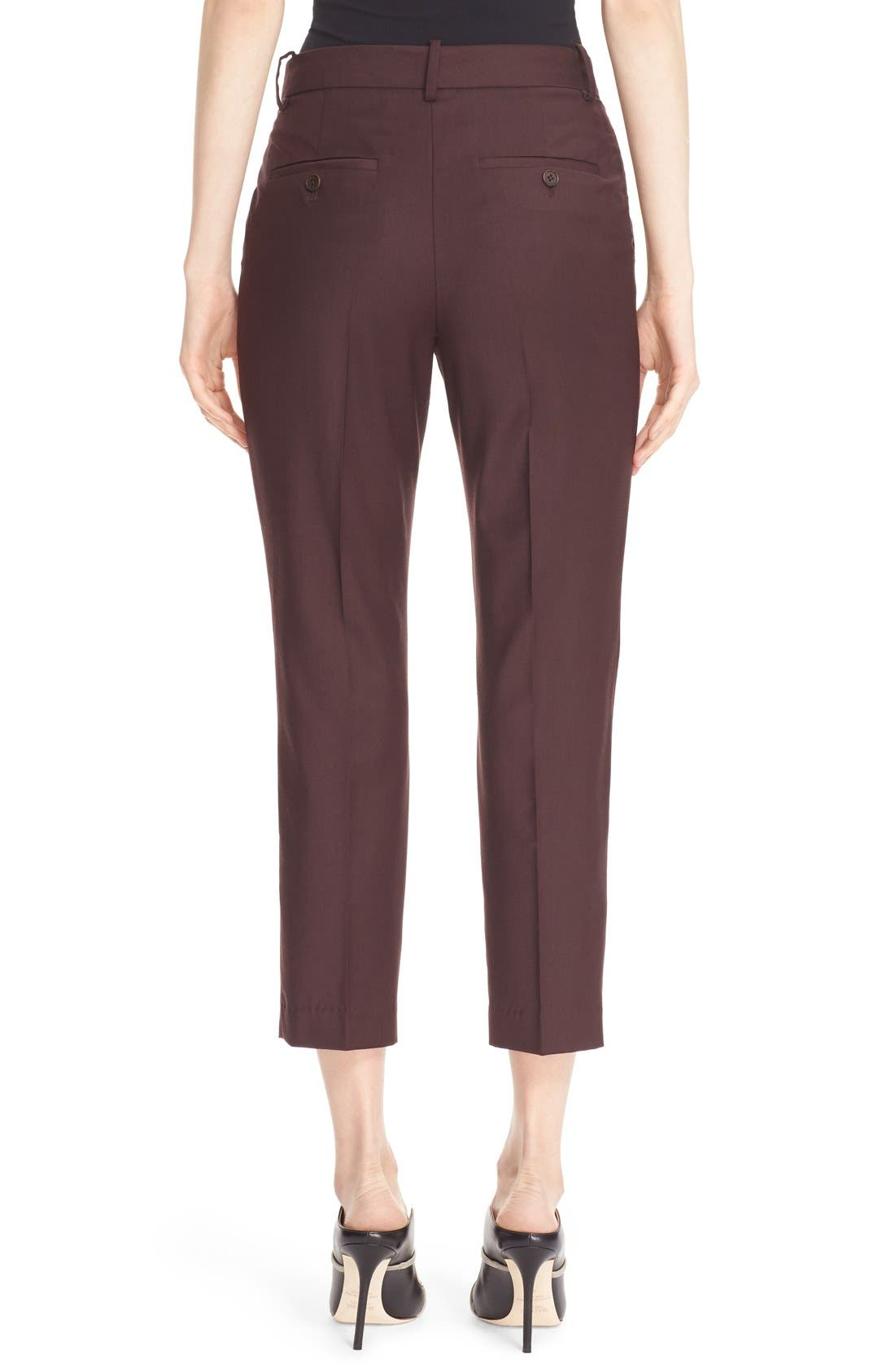 Alternate Image 2  - Theory 'Treeca Continuous' Wool Blend Cigarette Pants