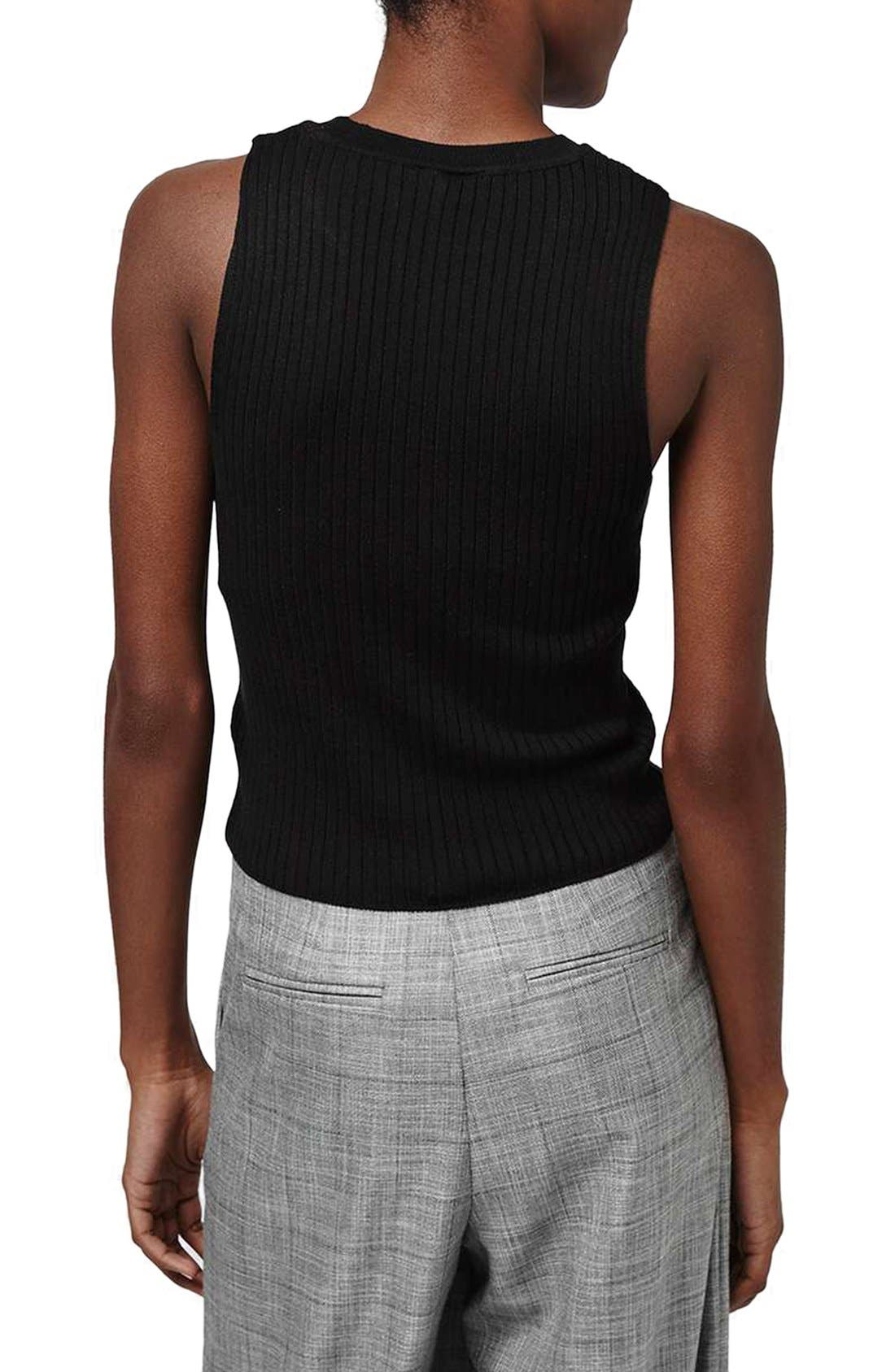 Alternate Image 3  - Topshop Ribbed Crop Tank
