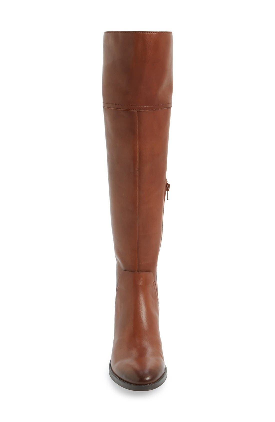 'Pedra' Over the Knee Boot,                             Alternate thumbnail 3, color,                             Gingerbread Leather