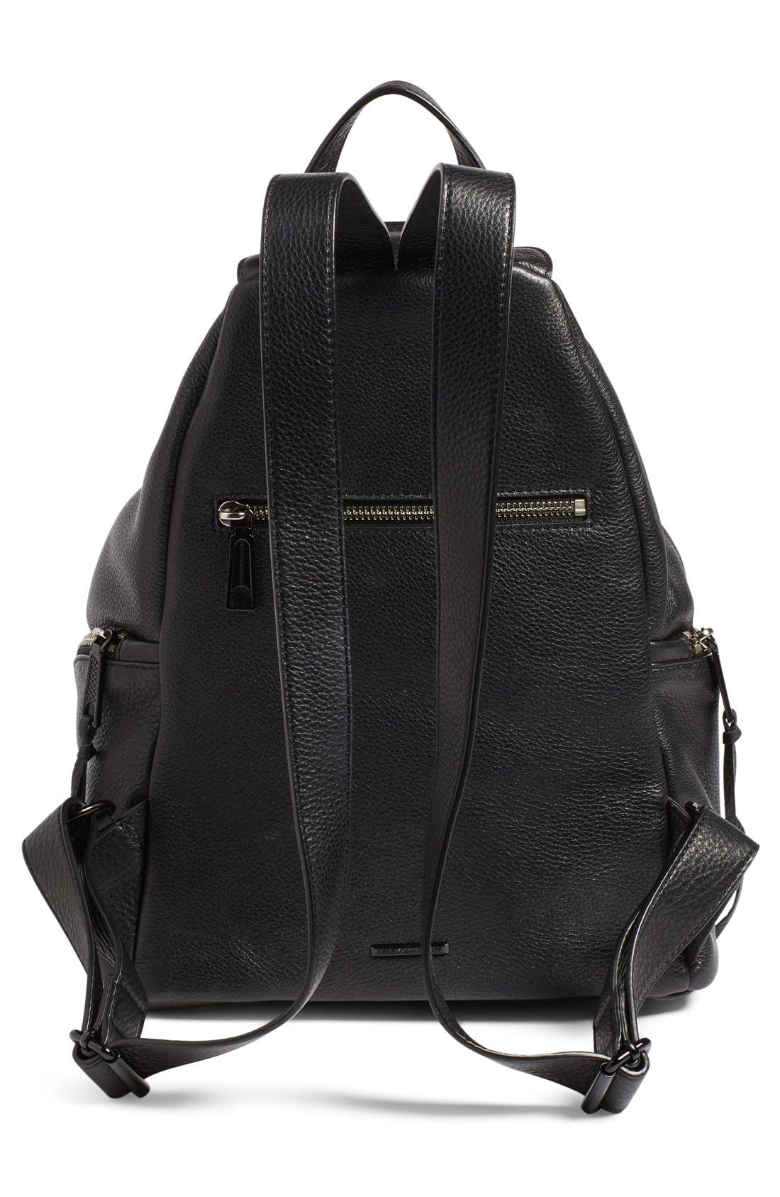'Fringe Julian' Backpack,                             Alternate thumbnail 3, color,                             Black