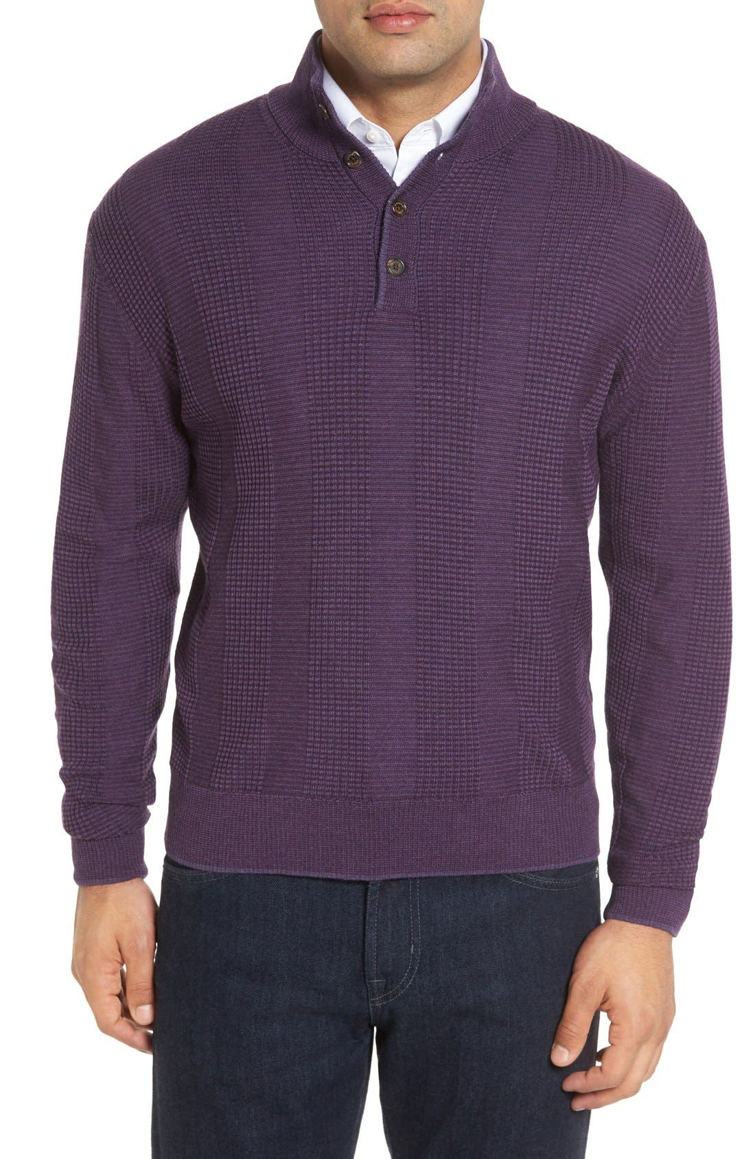 ROBERT TALBOTT Legacy Collection Mock Neck Wool Sweater