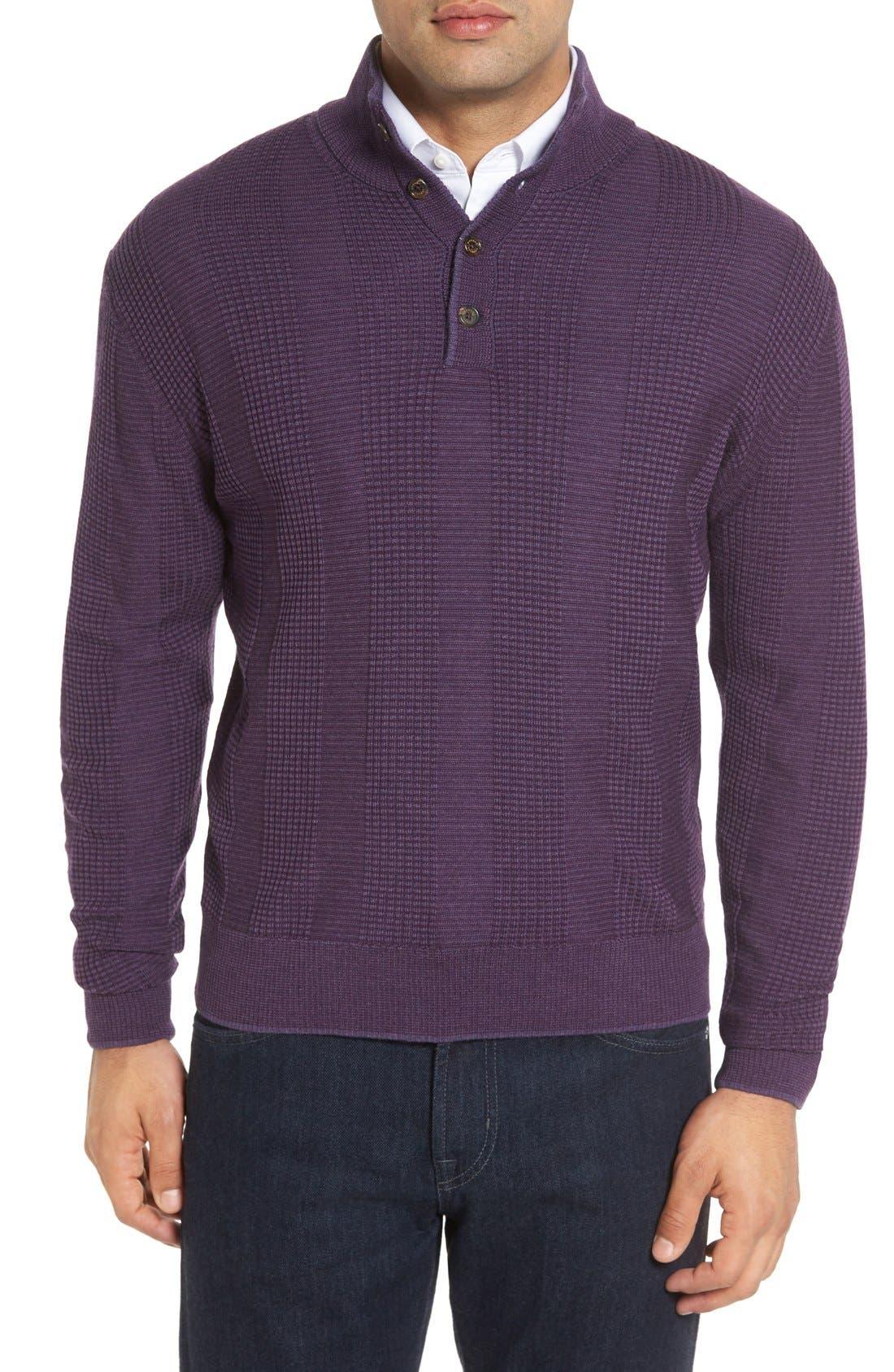 Robert Talbott 'Legacy Collection' Mock Neck Wool Sweater