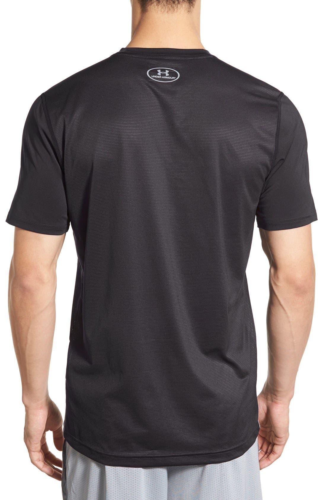 'Raid' HeatGear<sup>®</sup> Training T-Shirt,                             Alternate thumbnail 5, color,                             Black/ Black/ Graphite
