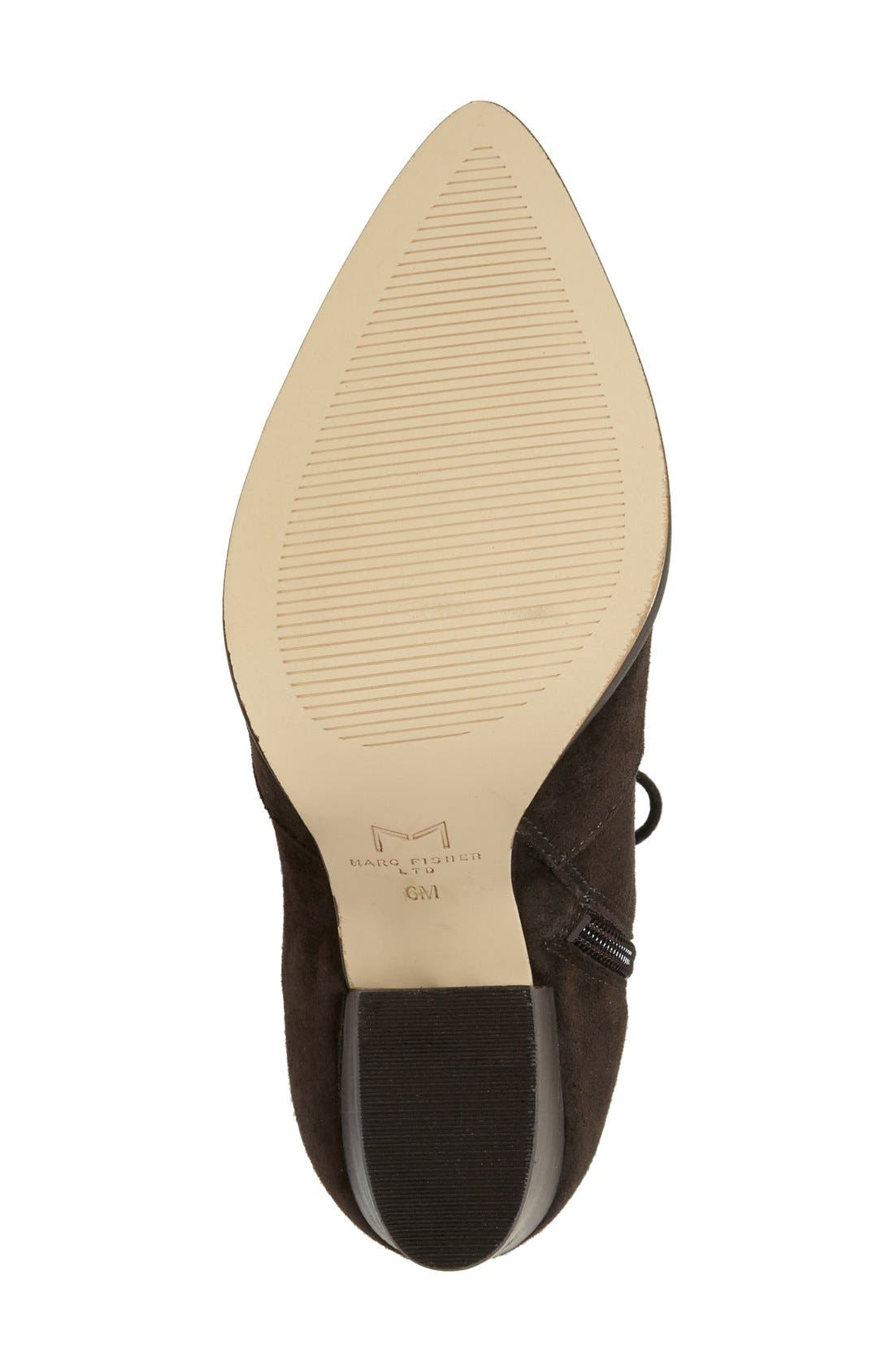 Alternate Image 4  - Marc Fisher LTD Aaliyah Pointy Toe Lace-Up Bootie (Women)