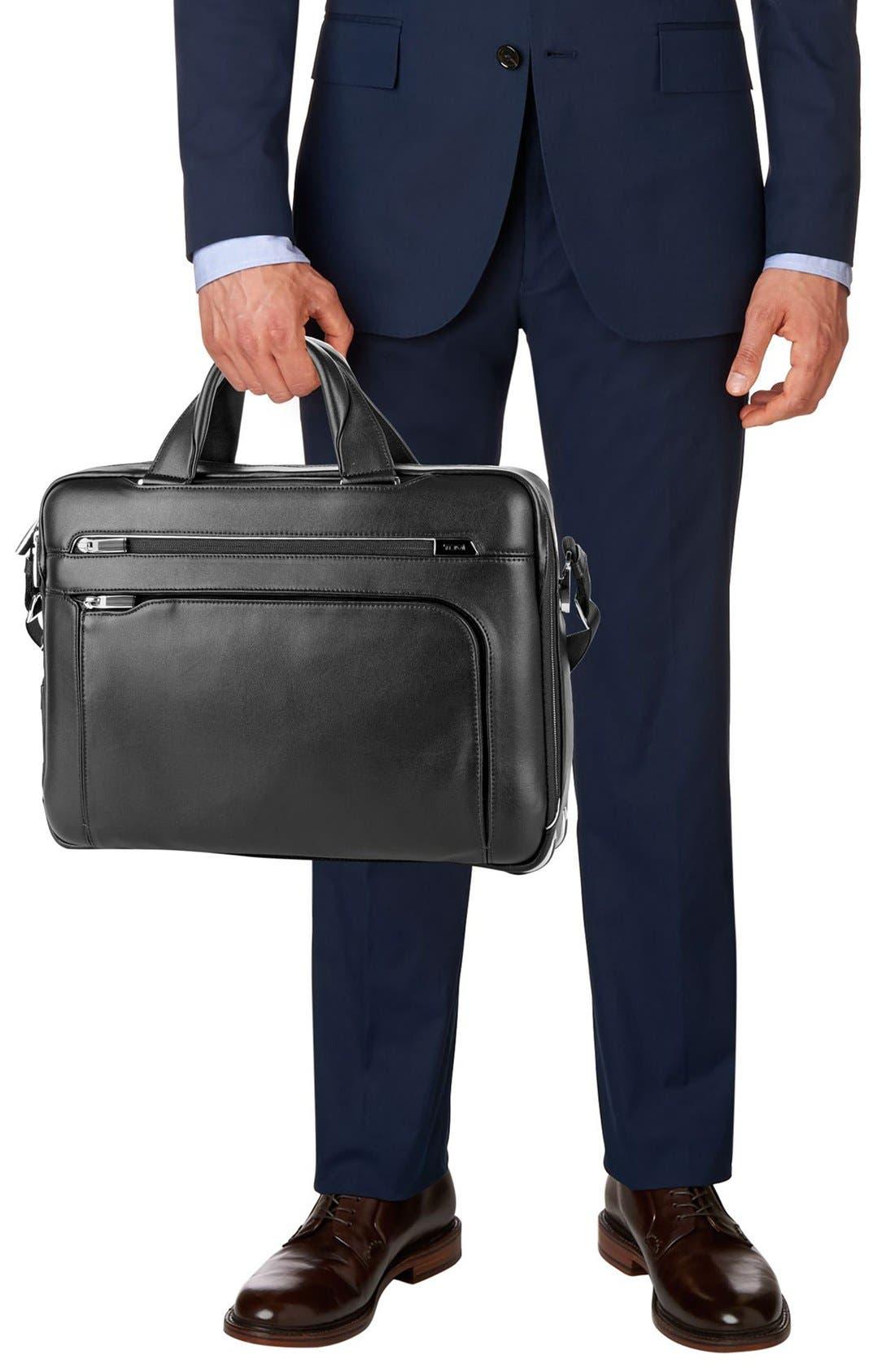 Arrivé - Sawyer Leather Briefcase,                             Alternate thumbnail 2, color,                             Black