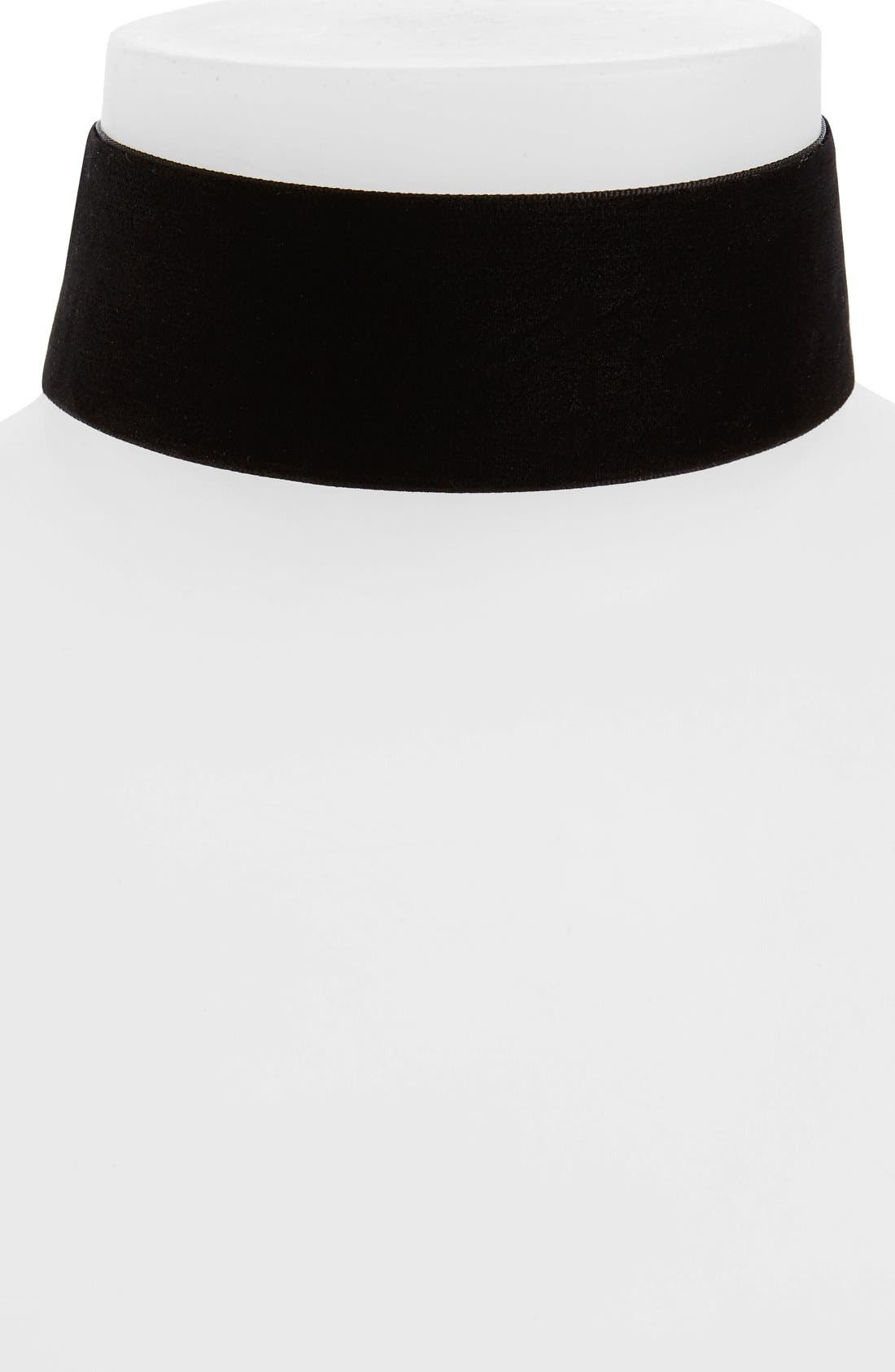 Alternate Image 1 Selected - Topshop Thick Velvet Choker