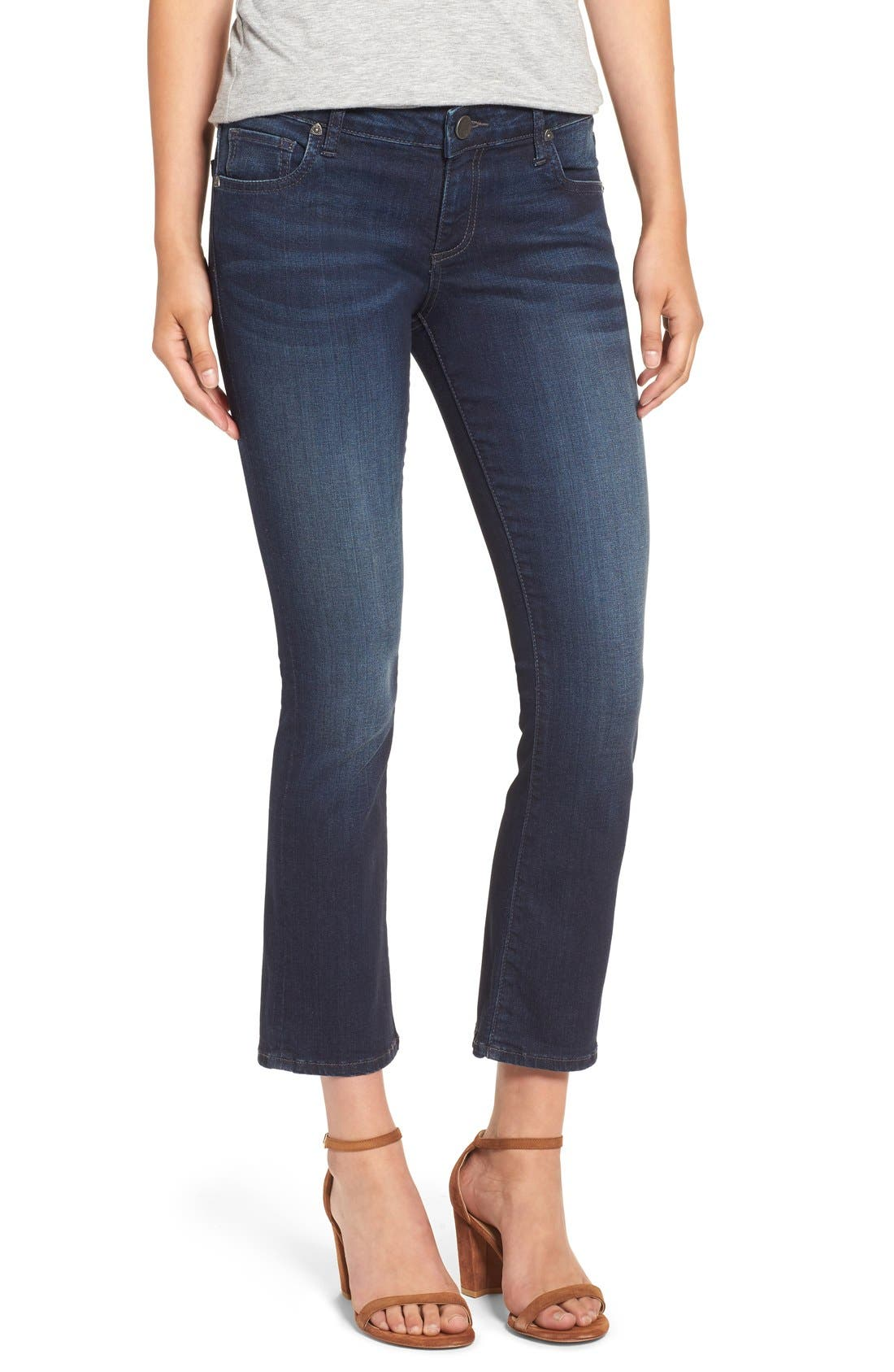 Alternate Image 1 Selected - KUT from the Kloth 'Reese' Crop Flare Leg Jeans (Security)