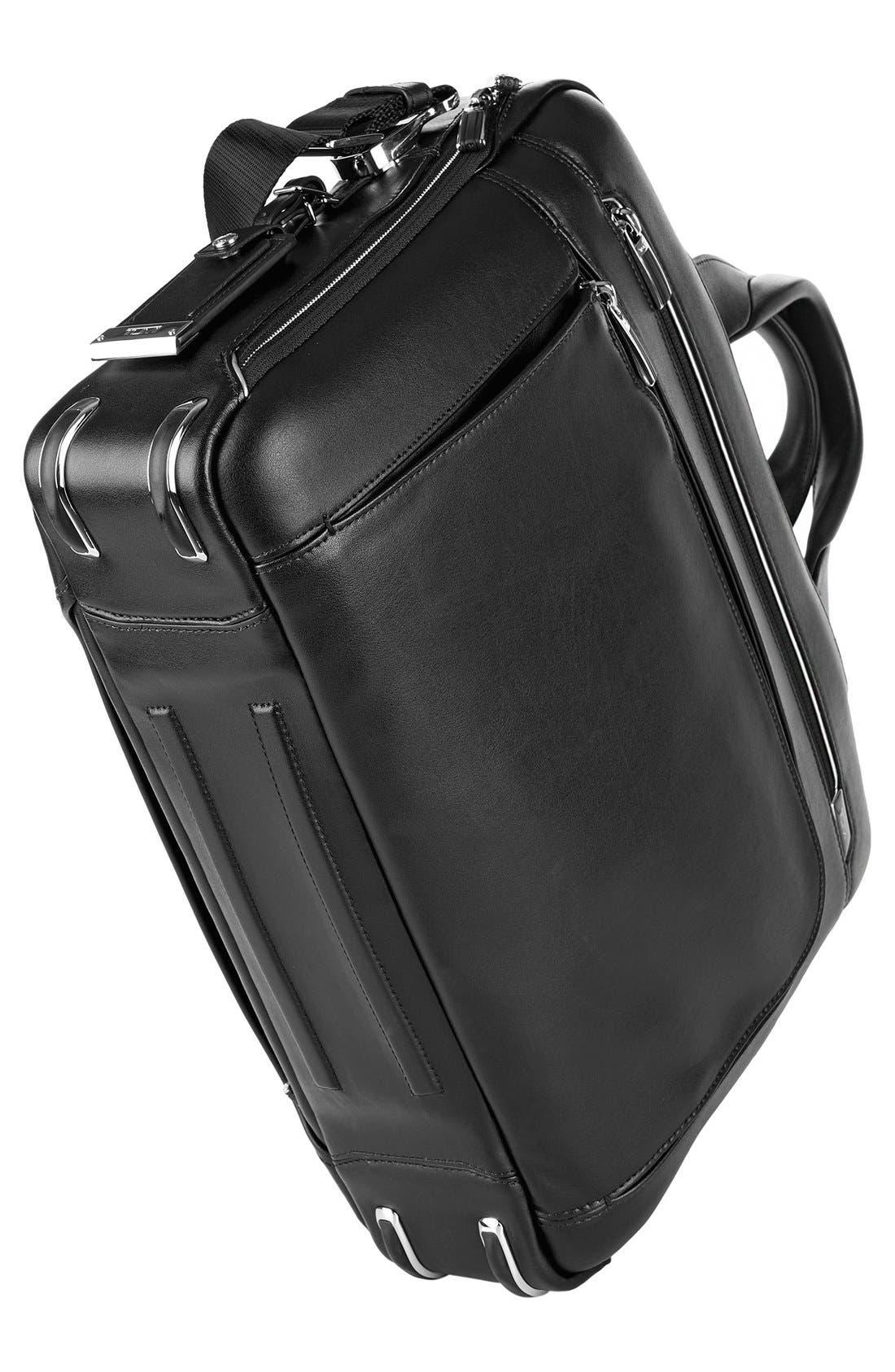 Arrivé - Sawyer Leather Briefcase,                             Alternate thumbnail 6, color,                             Black