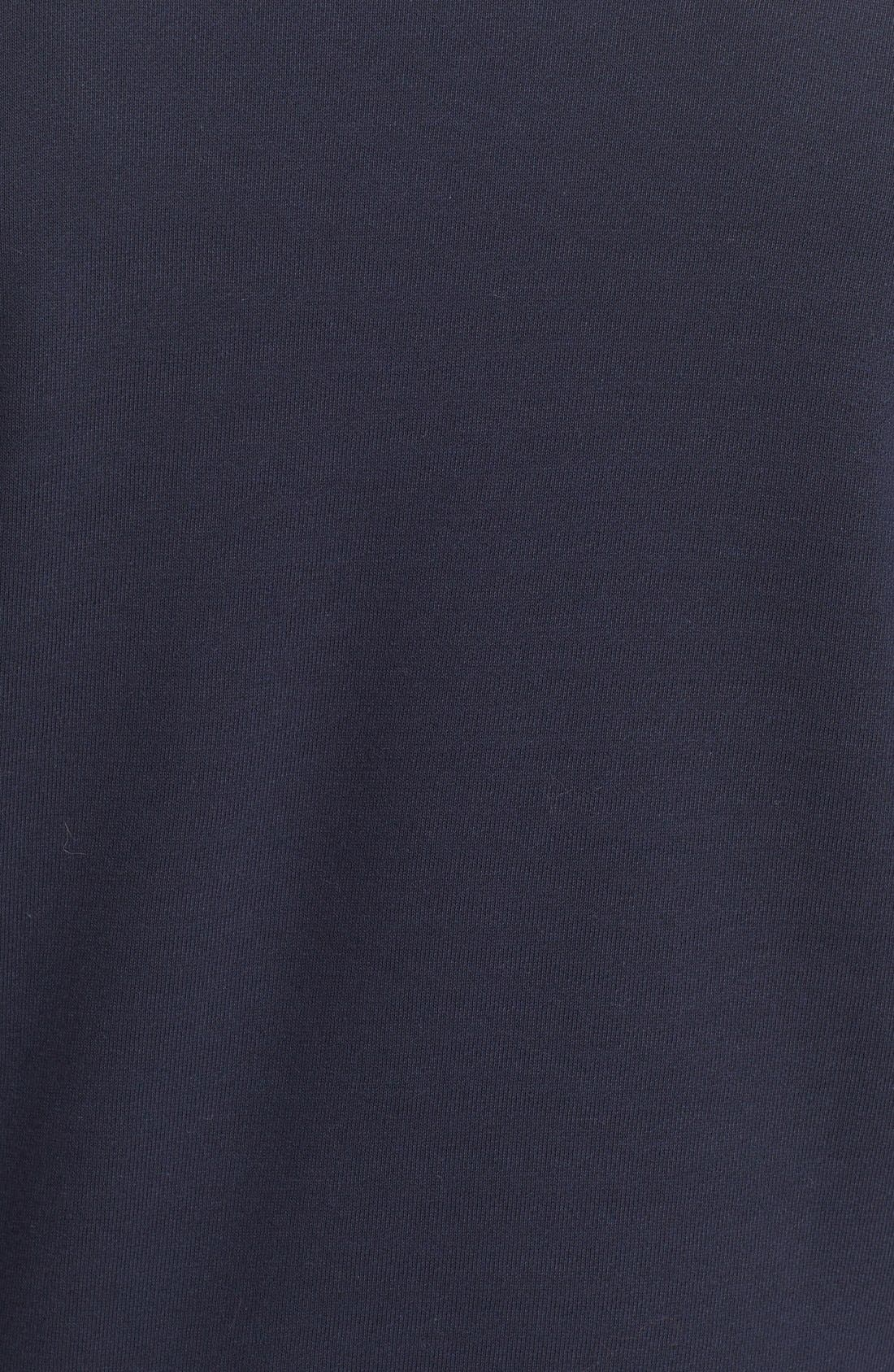 Stripe Sleeve Sweatshirt,                             Alternate thumbnail 5, color,                             Navy/ Optic White