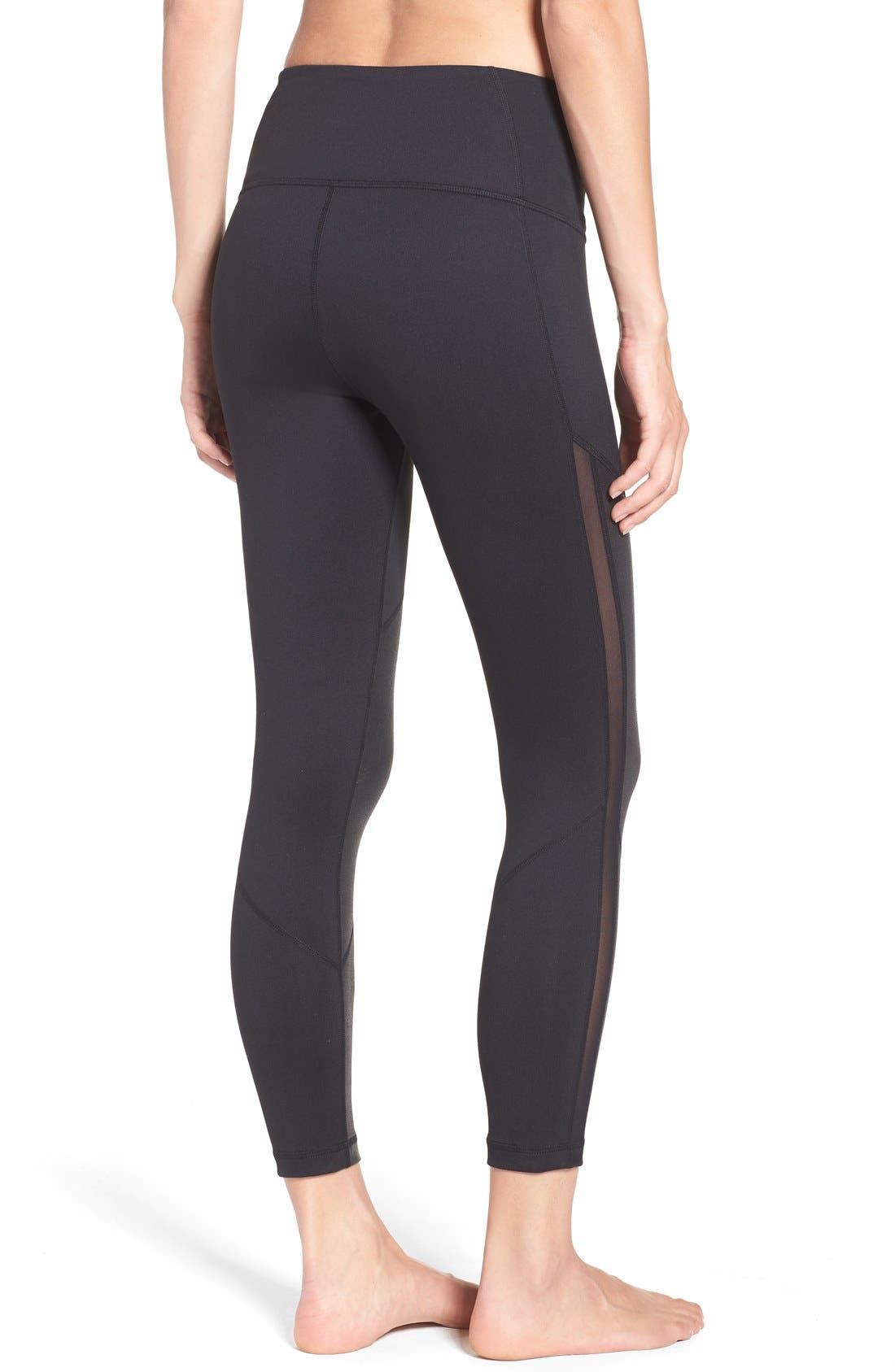 Alternate Image 2  - Zella 'Mindful' High Waist Midi Crop Leggings