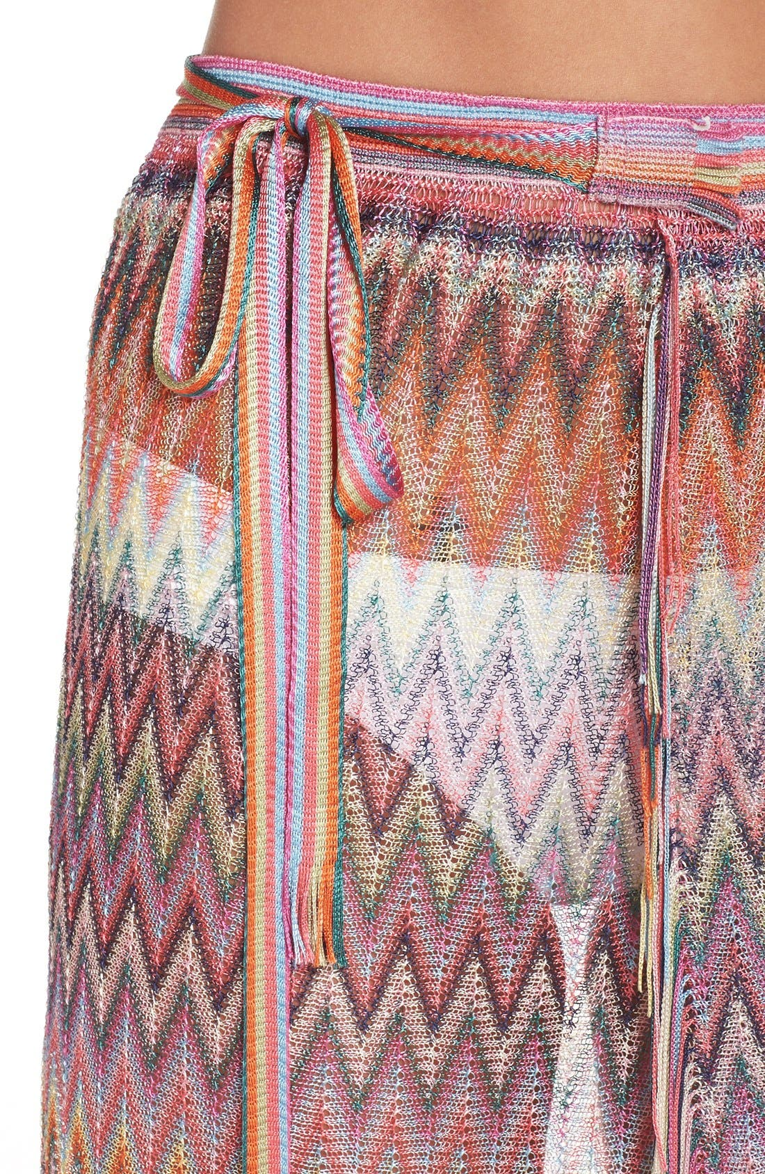Zigzag Wrap Pareo,                             Alternate thumbnail 4, color,                             Multi