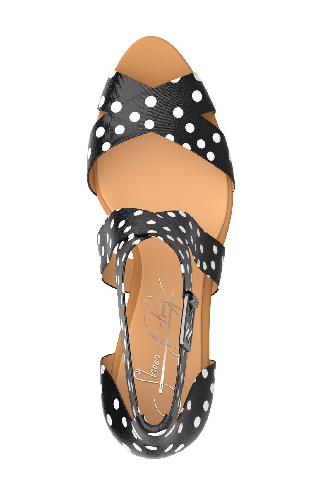 Alternate Image 3  - Shoes of Prey Crisscross Strap Wedge Sandal (Women)