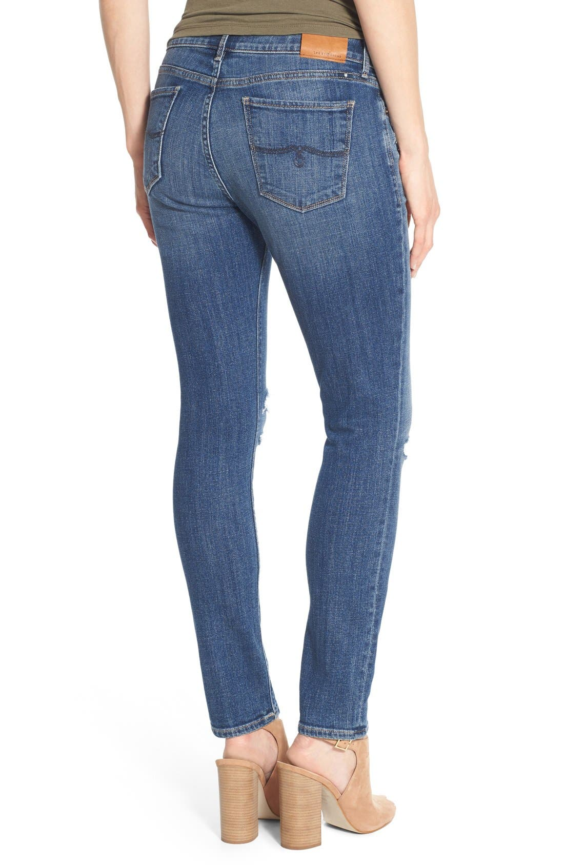 Alternate Image 3  - Lucky Brand 'Lolita' Distressed Stretch Skinny Jeans (Morrison)