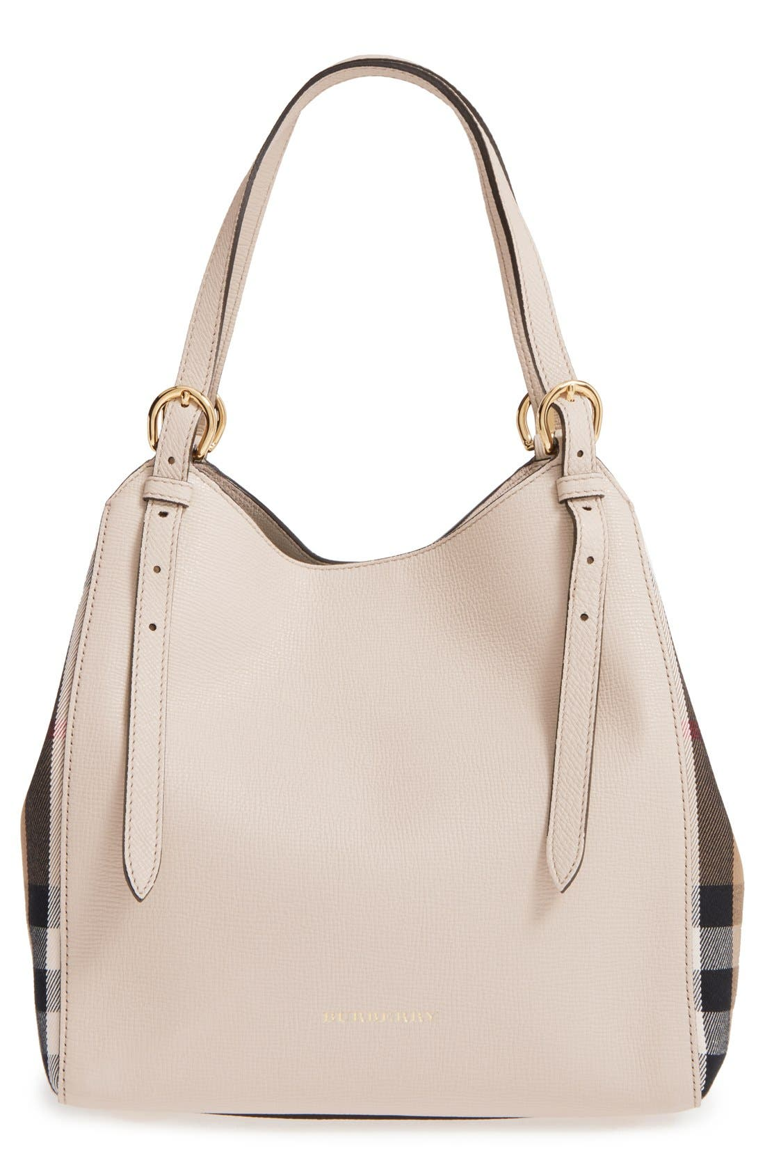 Alternate Image 1 Selected - Burberry 'Derby Canterbury' House Check Shoulder Tote
