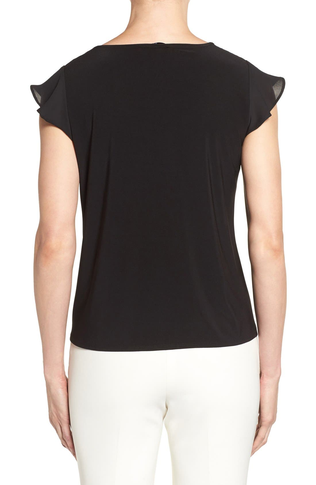 Alternate Image 2  - CeCe Flutter Sleeve Keyhole Neck Top