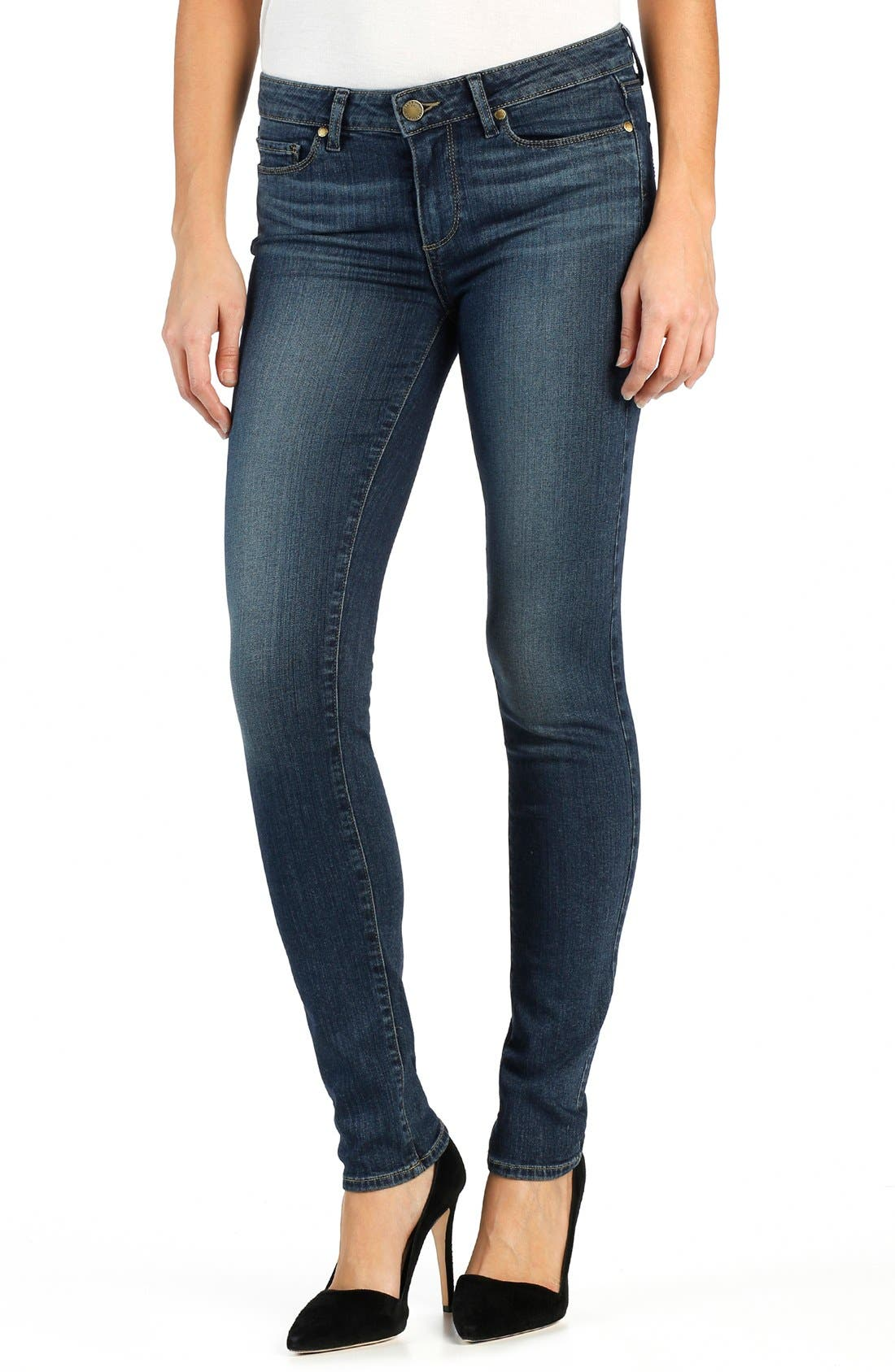 Alternate Image 1 Selected - PAIGE Transcend Skyline Skinny Jeans (Brentyn)
