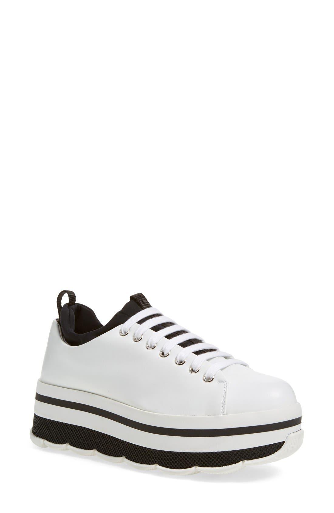 Alternate Image 1 Selected - Prada Linea Rossa Platform Sneaker (Women)