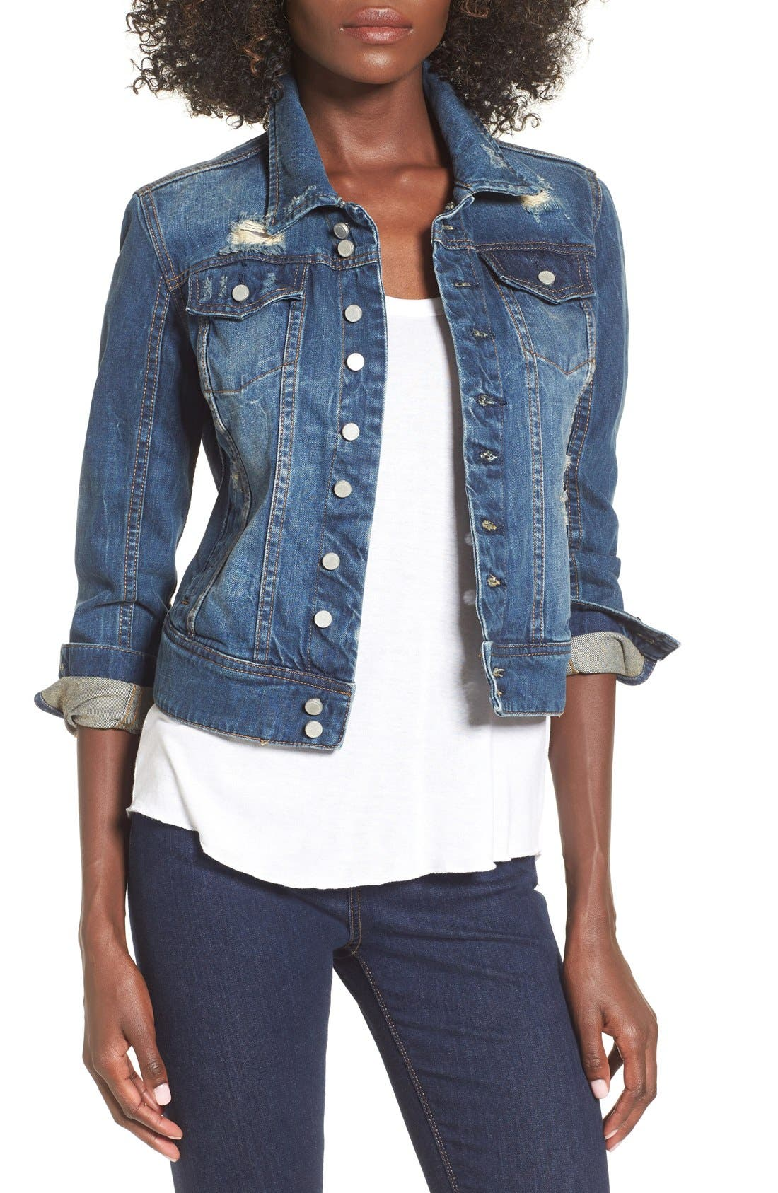 Alternate Image 1 Selected - BLANKNYC 'Toe Jam' Denim Jacket