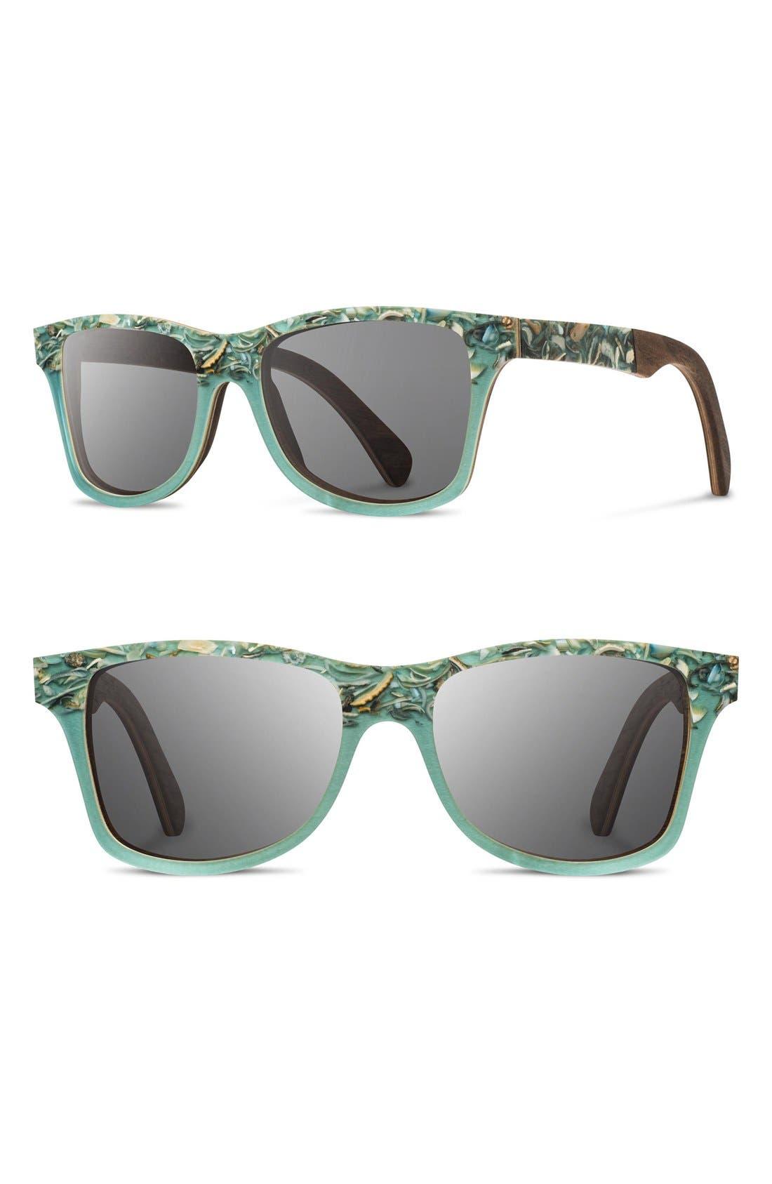 'Canby' 55mm Polarized Seashell & Wood Sunglasses,                         Main,                         color, Seashell/ Grey Polar