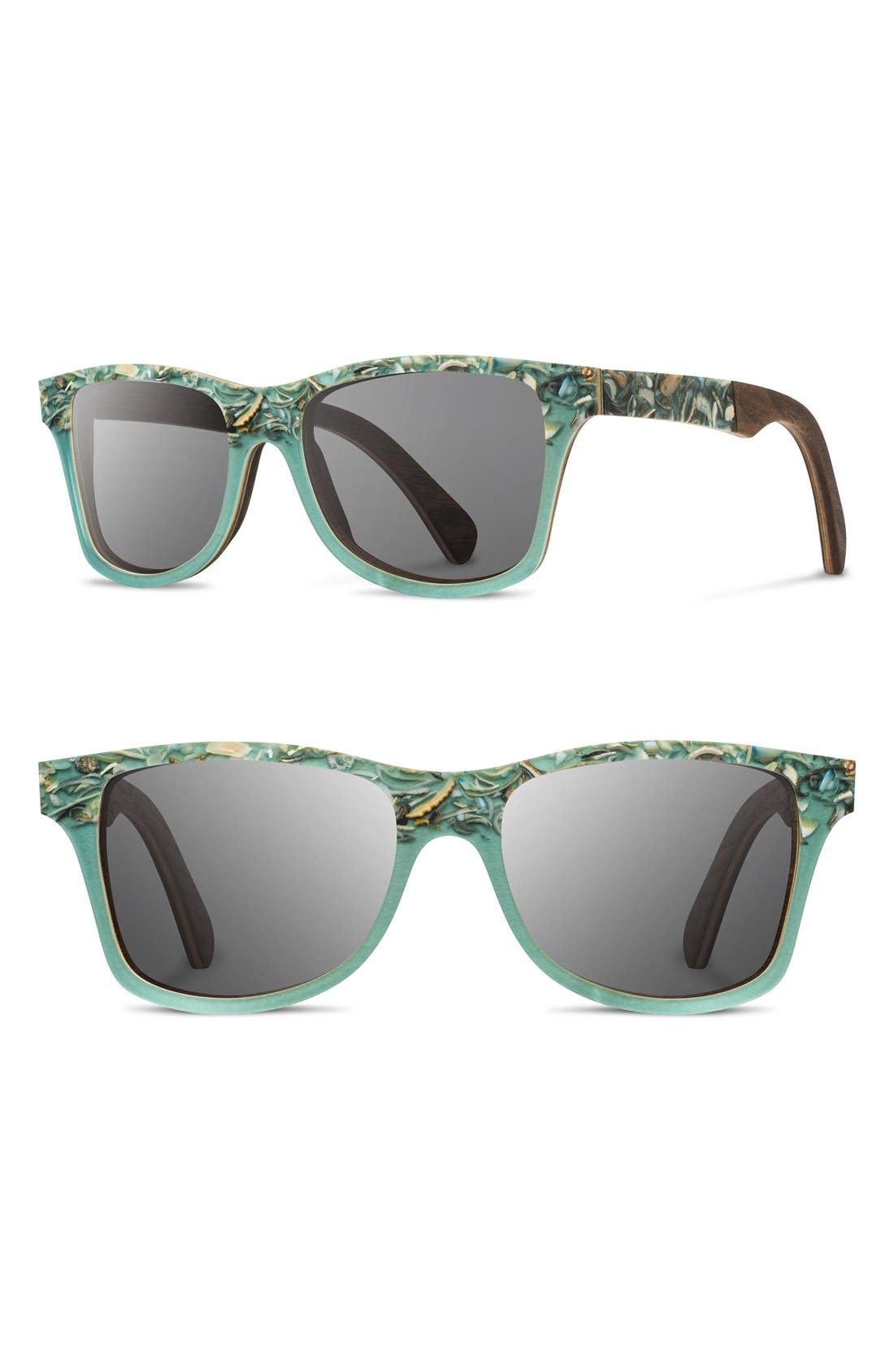 Shwood 'Canby' 55mm Polarized Seashell & Wood Sunglasses