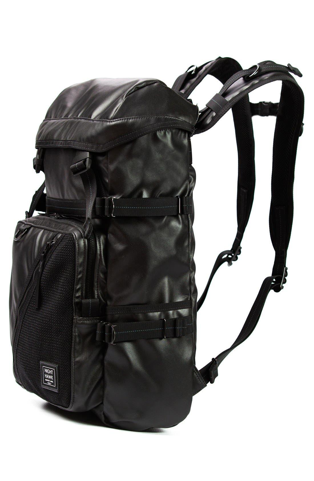 'NightHawk' Backpack,                             Alternate thumbnail 4, color,                             Black
