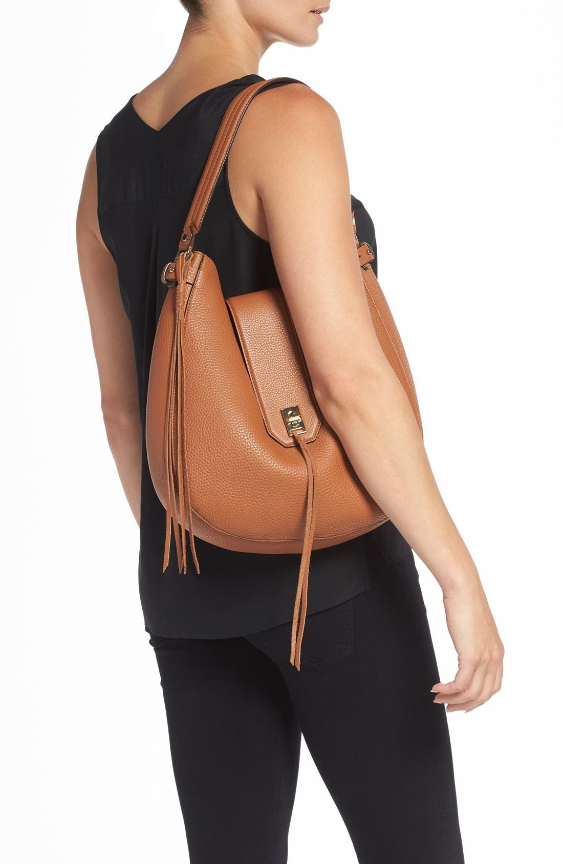 Alternate Image 2  - Rebecca Minkoff 'Darren' Leather Hobo Bag