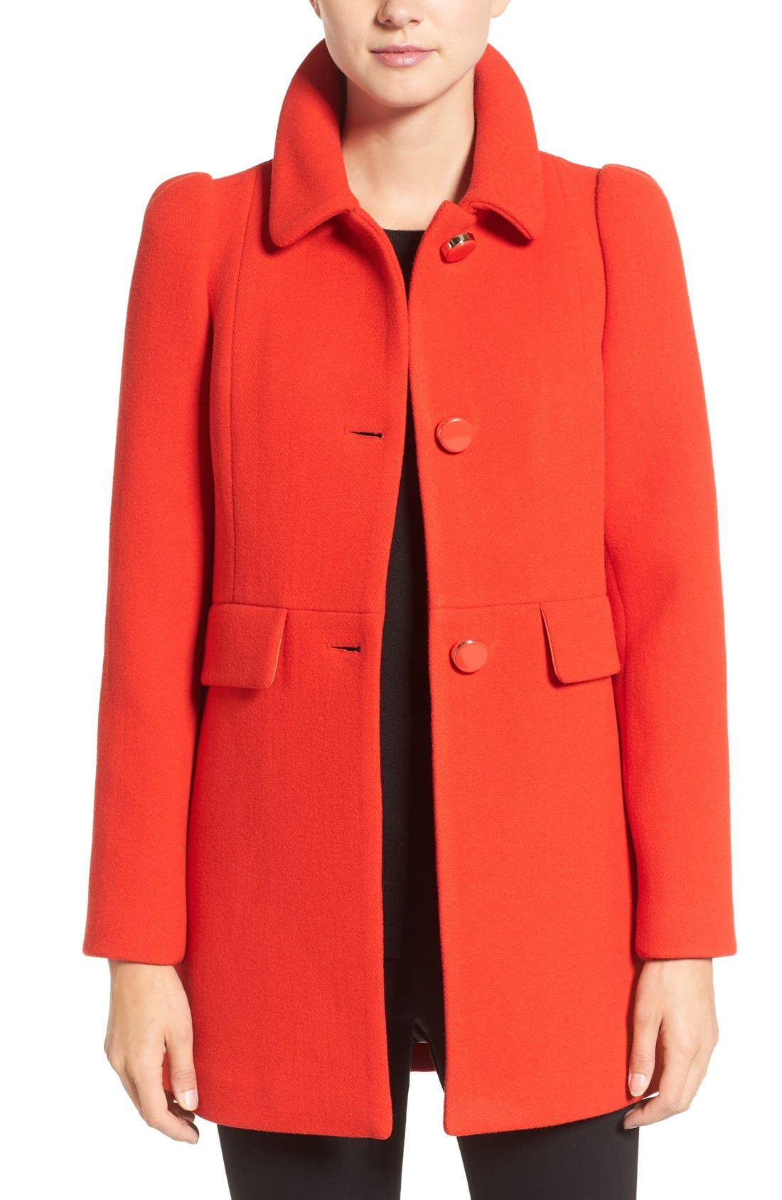Main Image - kate spade new york wool blend a-line coat
