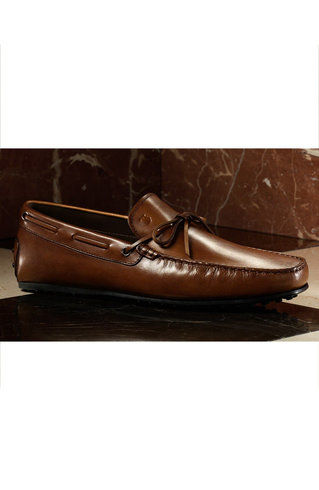 Alternate Image 5  - Tod's 'City Gommini' Tie Front Driving Moccasin (Men)