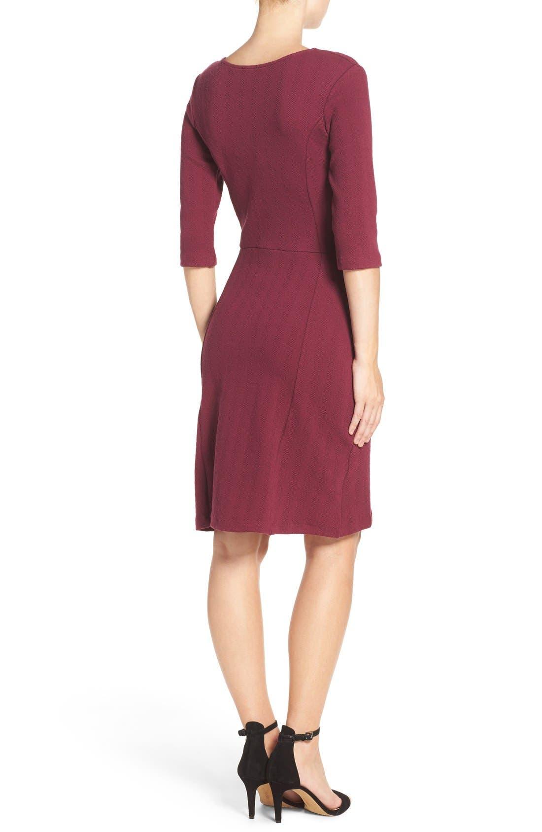 Alternate Image 2  - Leota 'Avery' Jacquard Knit Sheath Dress