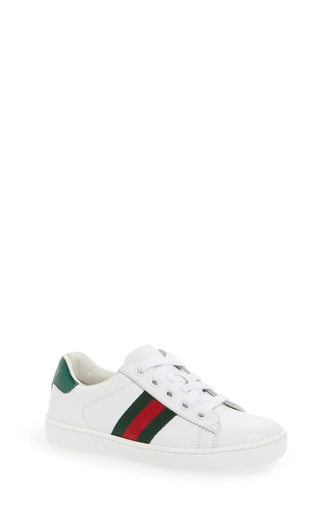 Alternate Image 1 Selected - Gucci 'Ace' Sneaker (Walker, Toddler & Little Kid)