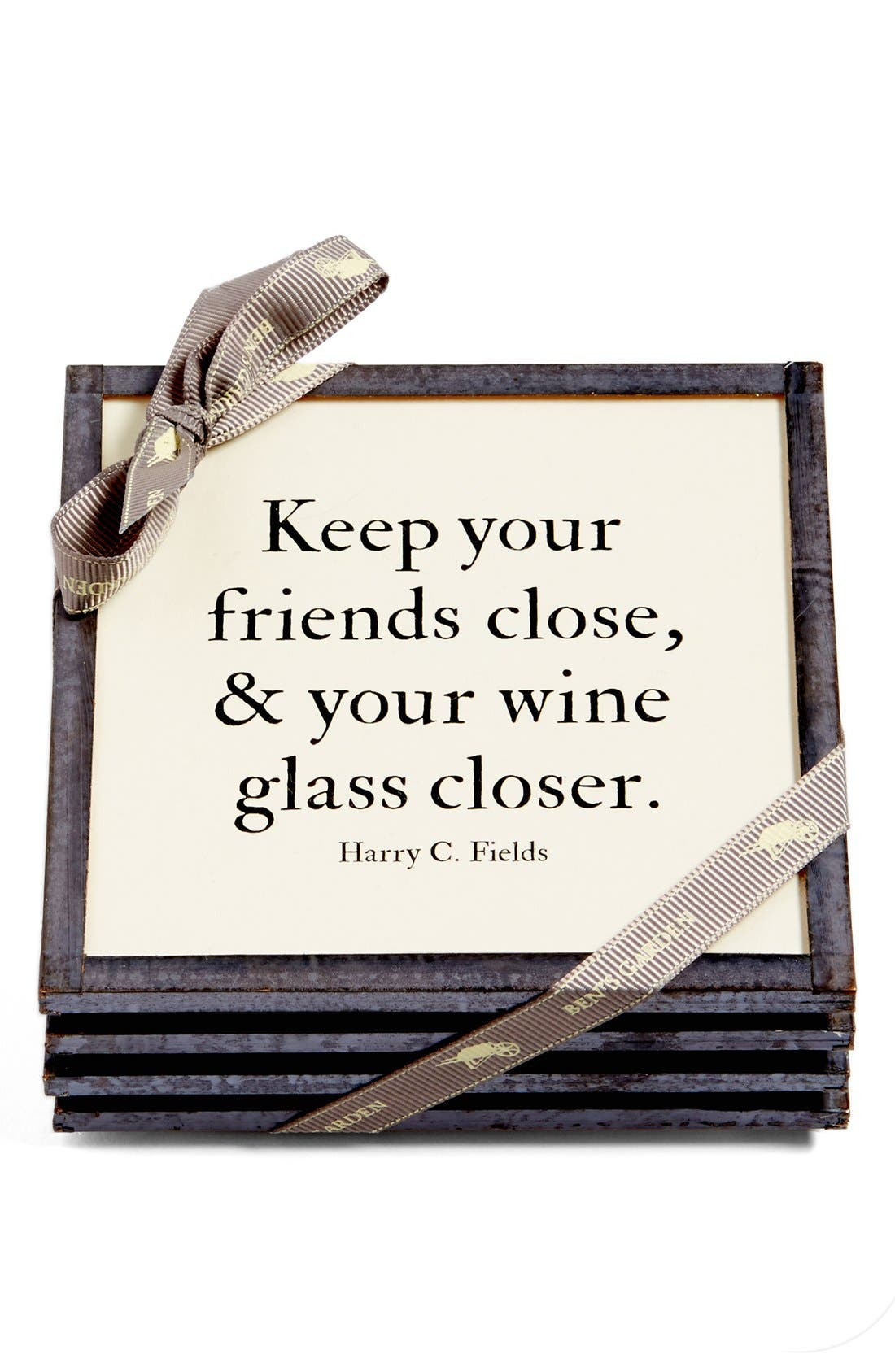 Ben's Garden 'Keep Your Friends Close' Coasters (Set of 4)