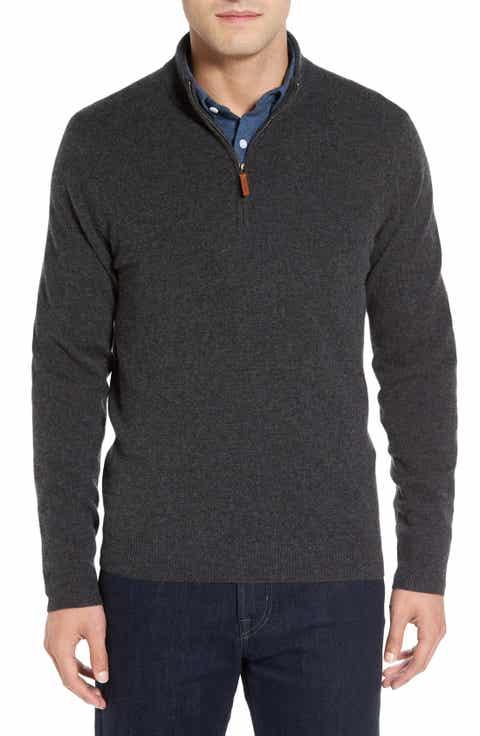 Men's Grey Half-Zip Pullovers & Zip-Up Sweaters & Fleece | Nordstrom