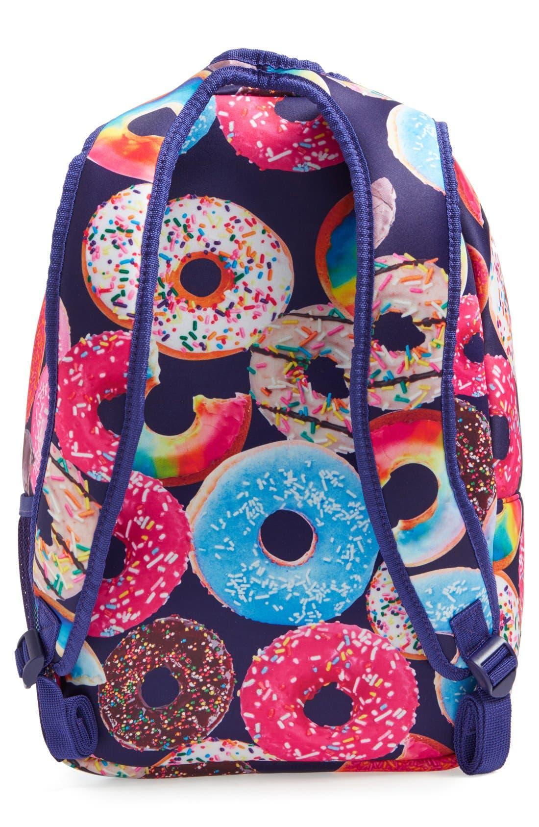 'Donut Shop' Neoprene Backpack,                             Alternate thumbnail 2, color,                             Black Multi