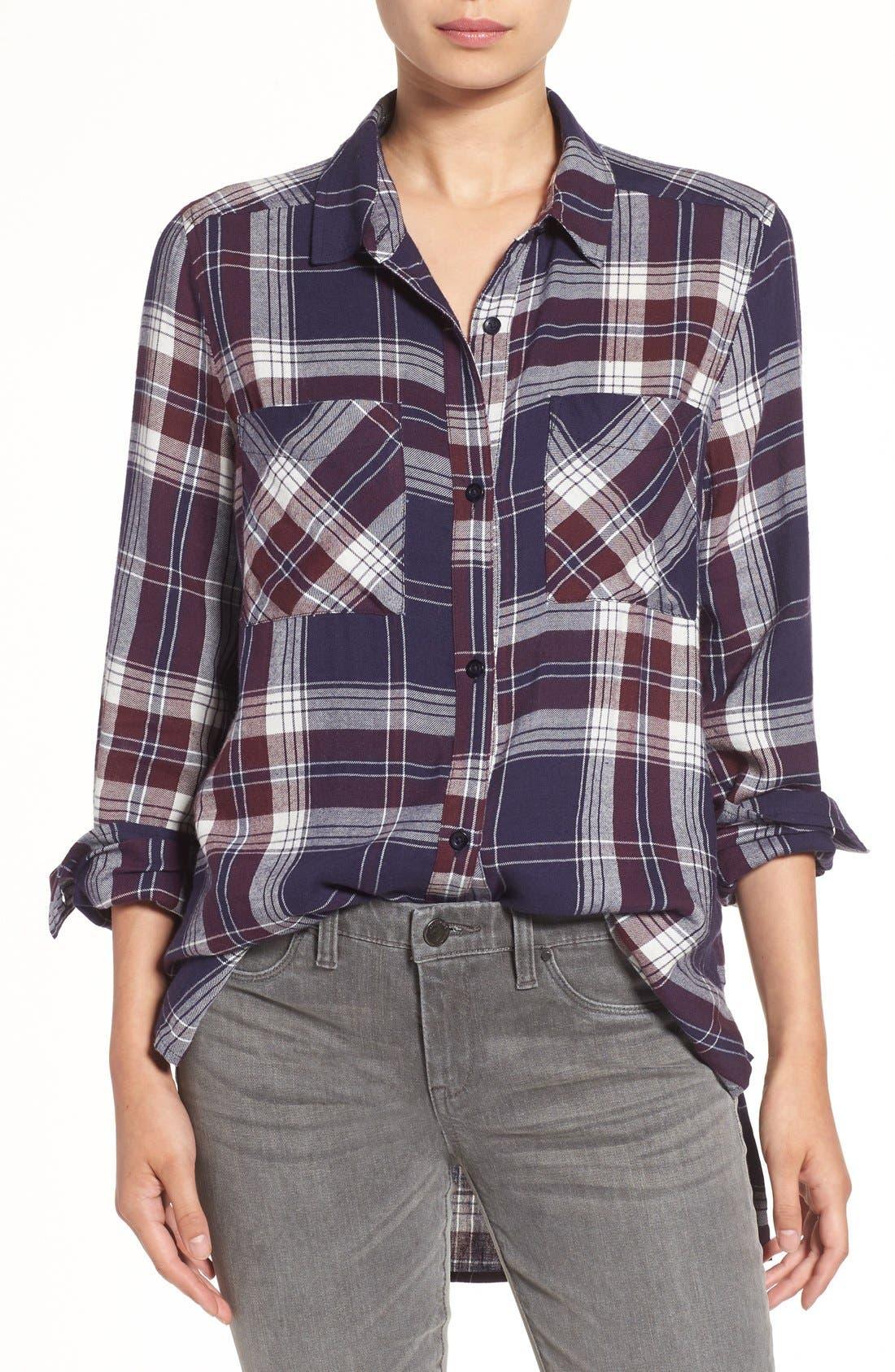 Main Image - BP. Plaid Tunic Shirt