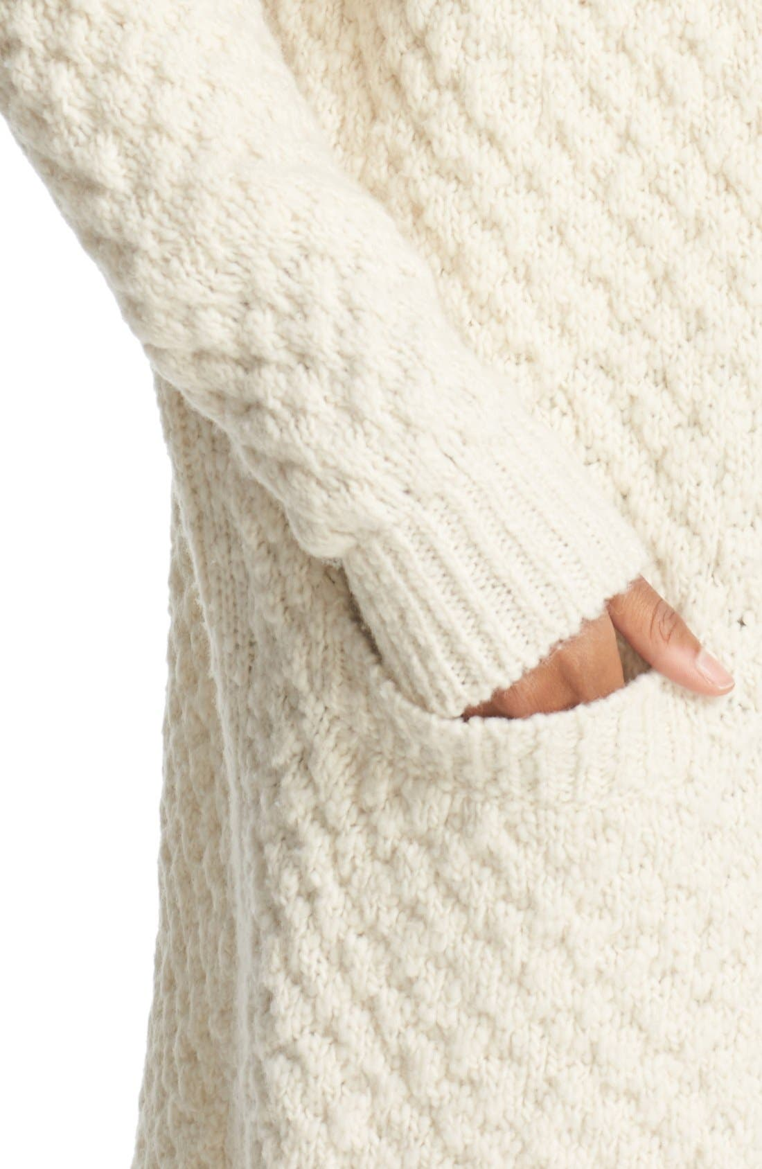 Alternate Image 4  - Vince Honeycomb Wool Blend Long Cardigan