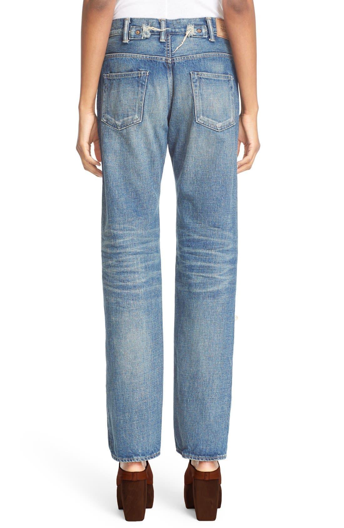 Alternate Image 2  - Tu es mon TRÉSOR Imitation Pearl Embellished Jeans