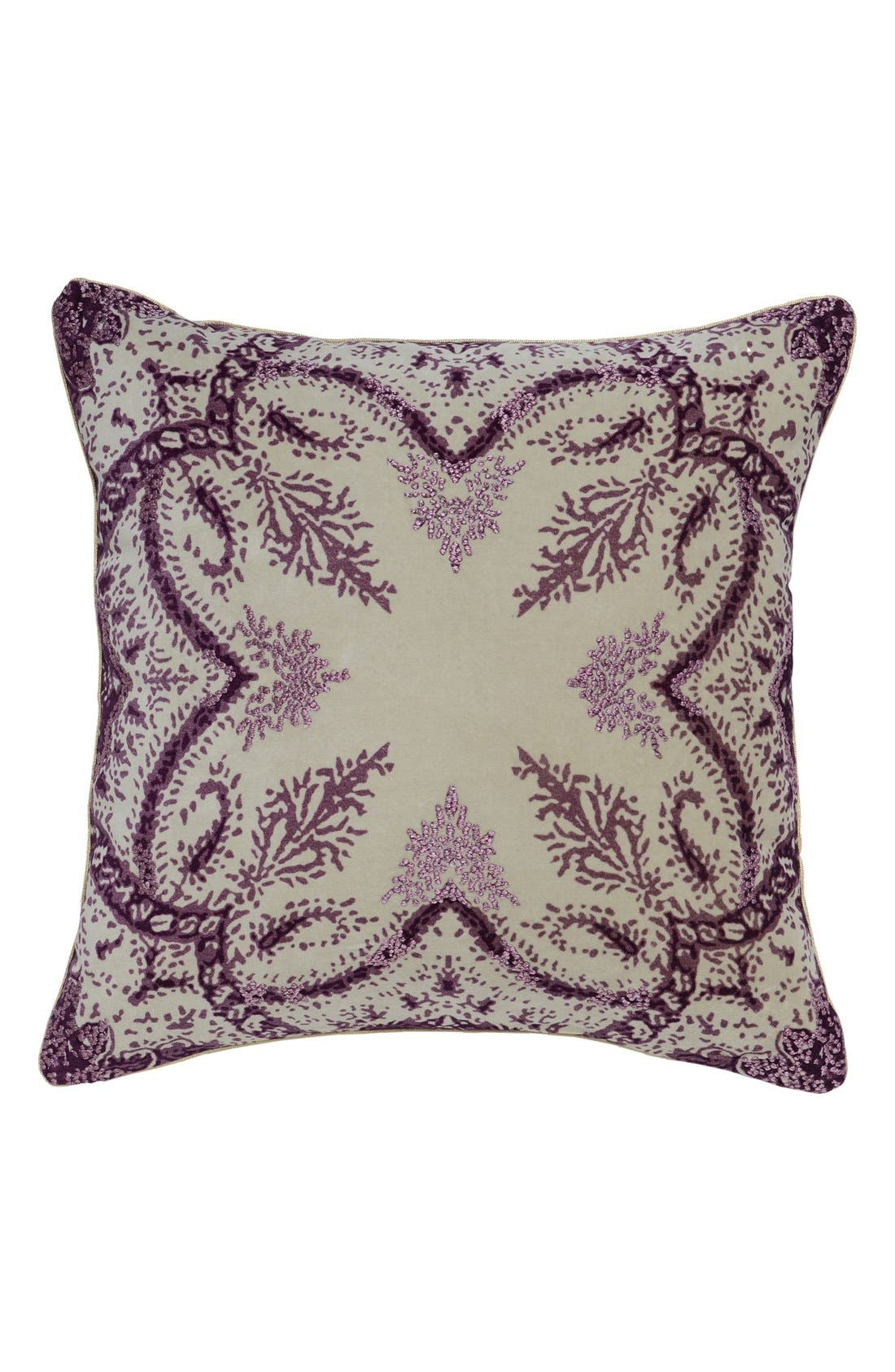 'Precious' Decorative Pillow,                             Main thumbnail 1, color,                             Plum