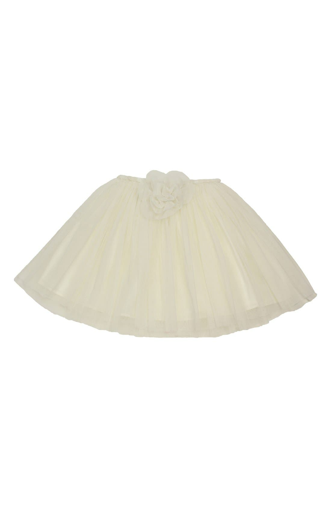 Alternate Image 1 Selected - POCHEW Flower Embellished Tutu (Toddler Girls & Little Girls)