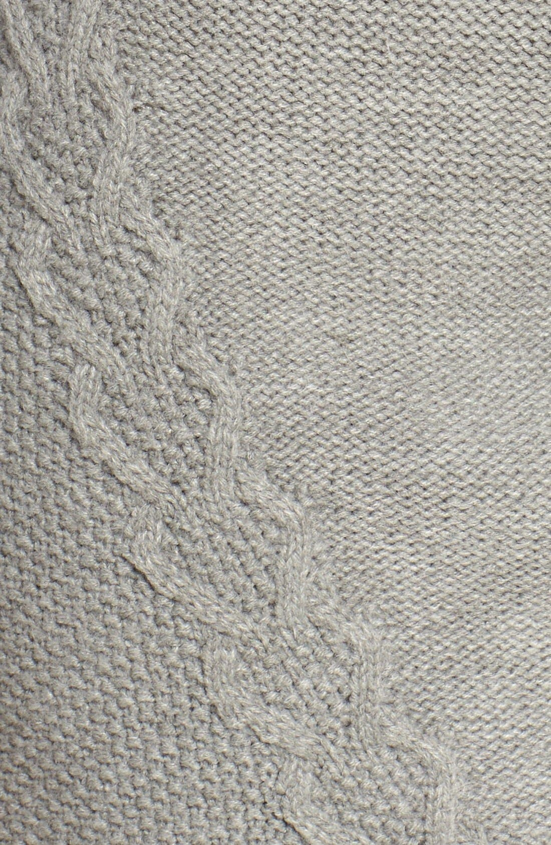 Alternate Image 6  - Eliza J Cable Knit Sweater Dress (Regular & Petite)