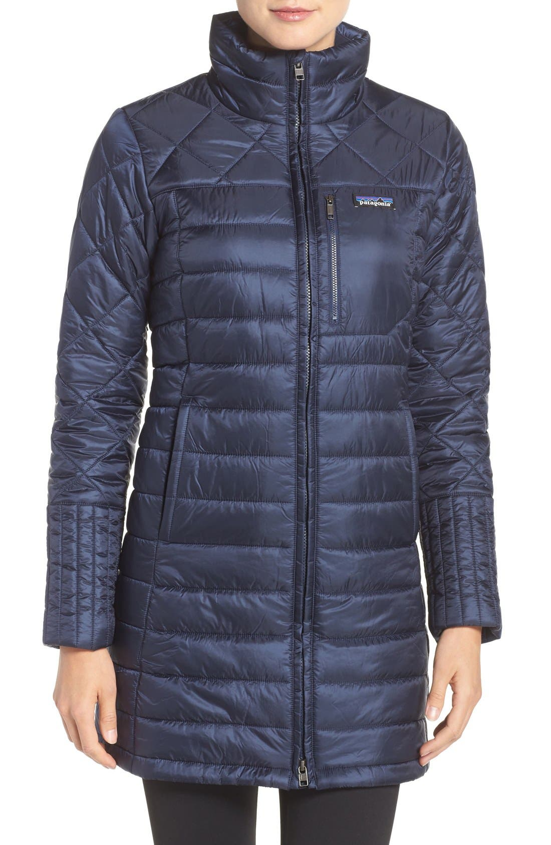 'Radalie' Water Repellent Parka,                             Main thumbnail 1, color,                             Navy Blue