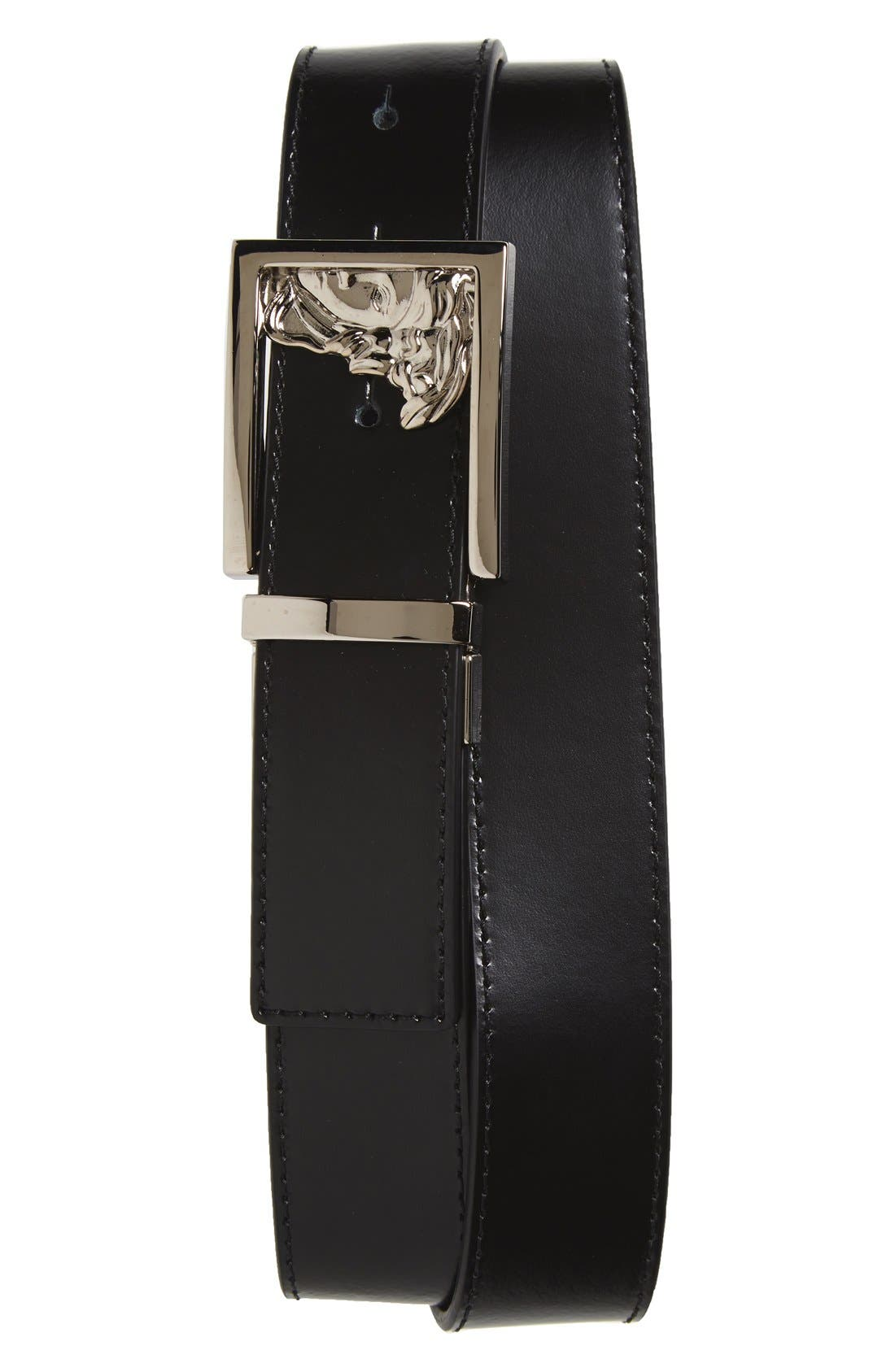 VERSACE COLLECTION Versace Medusa Leather Belt