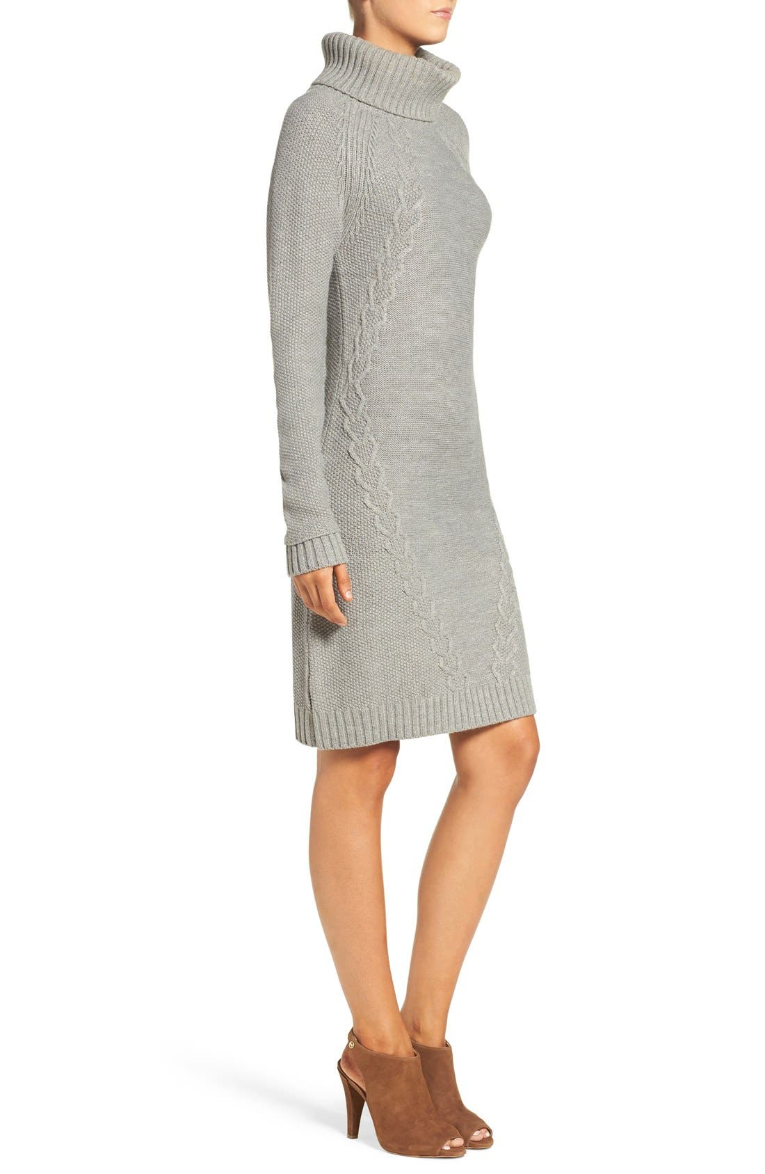 Alternate Image 3  - Eliza J Cable Knit Sweater Dress (Regular & Petite)