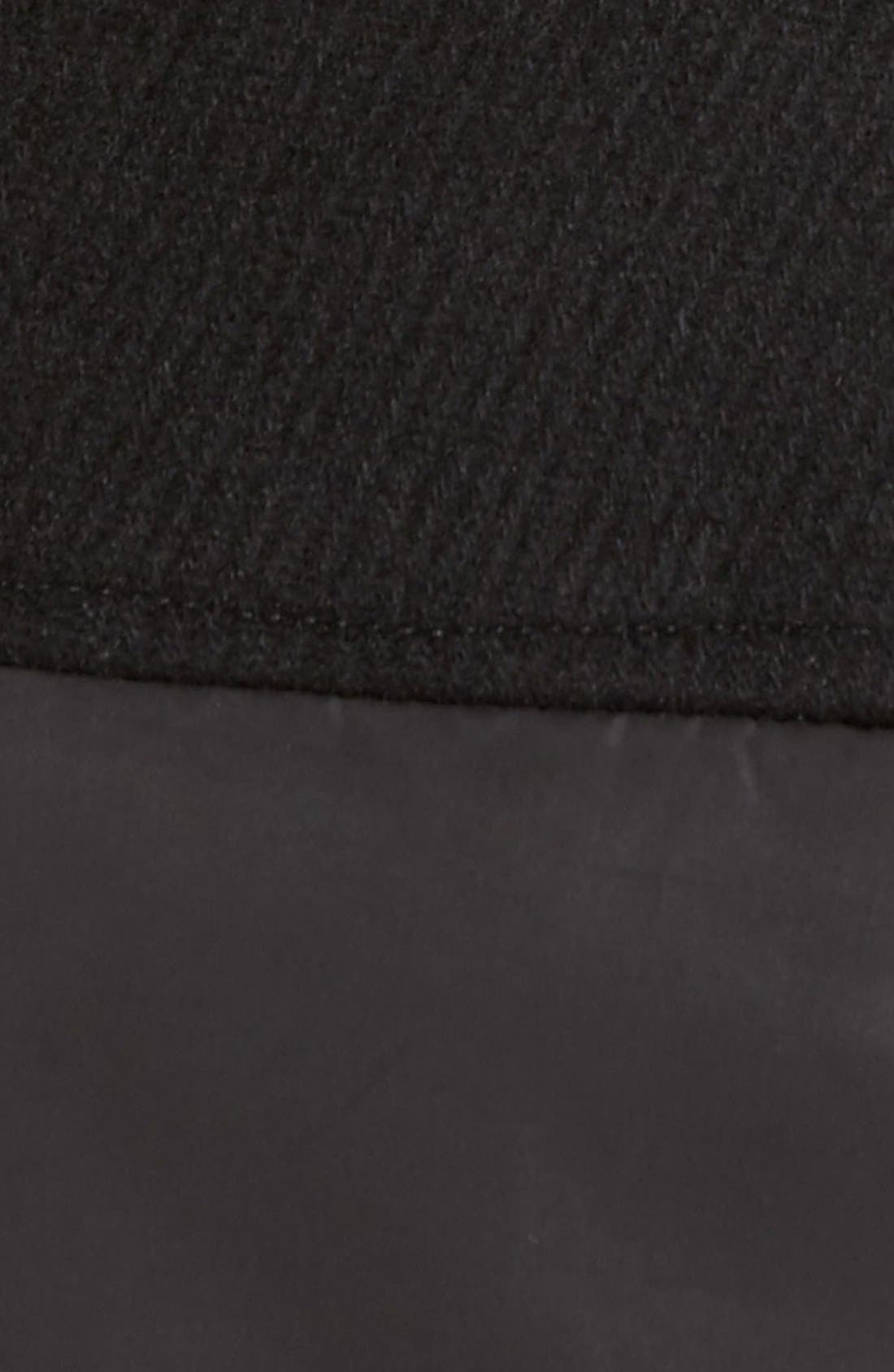 Alternate Image 5  - 1 Madison Faux Fur Trim Mixed Media Drop Waist Coat