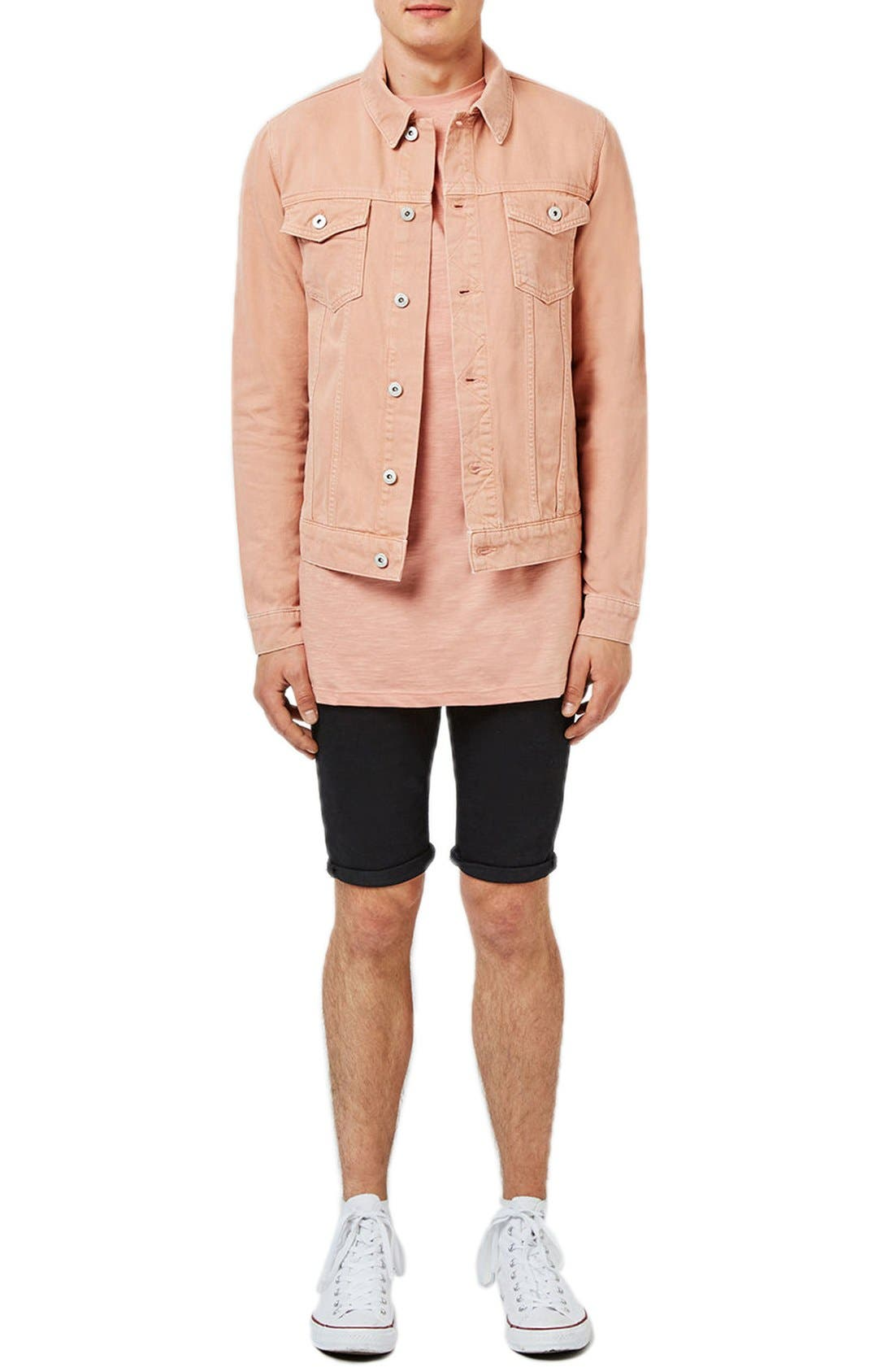 Alternate Image 2  - Topman Pink Denim Western Jacket