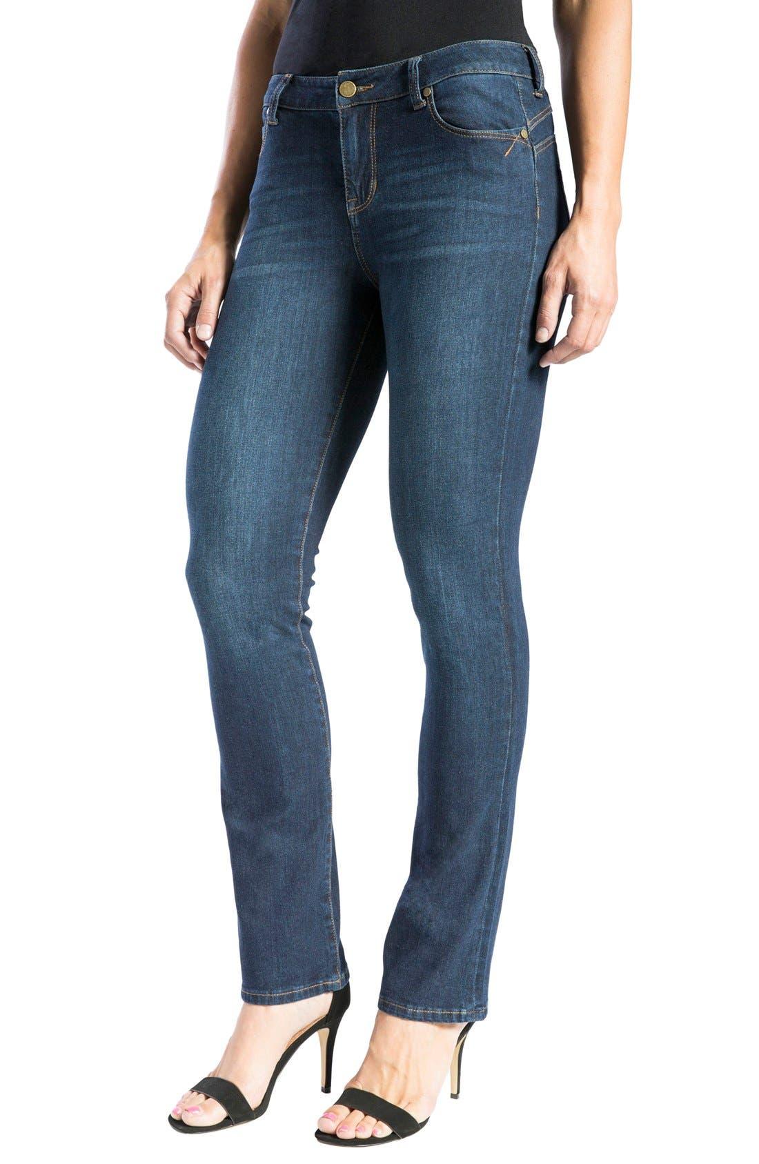 Alternate Image 4  - Liverpool Jeans Company 'Remy - Hugger' Straight Leg Jeans (Corvus)