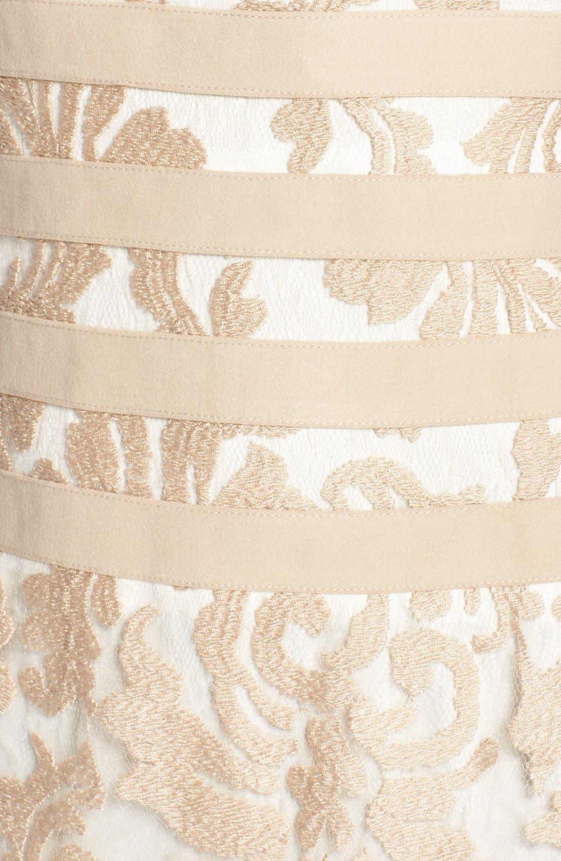 Alternate Image 6  - Tadashi Shoji Textured Lace Mermaid Gown (Regular & Petite)