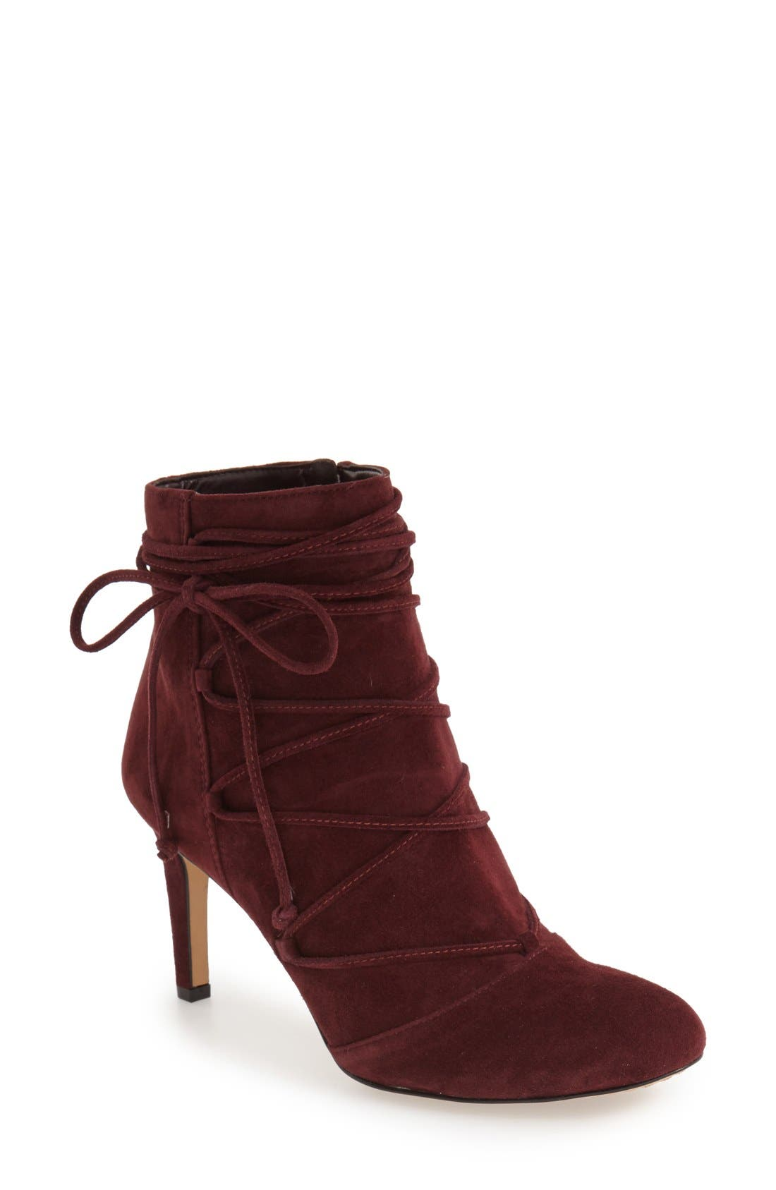 Alternate Image 1 Selected - Vince Camuto 'Chenai' Wraparound Lace Bootie (Women)