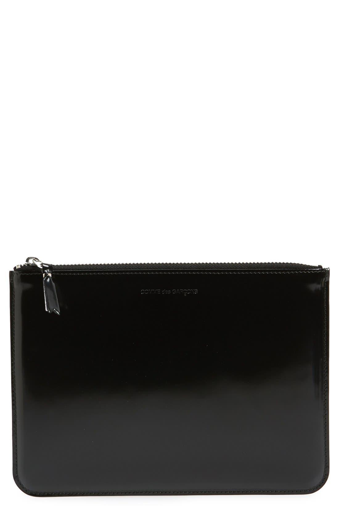 Main Image - Comme des Garçons Large Top Zip Leather Pouch