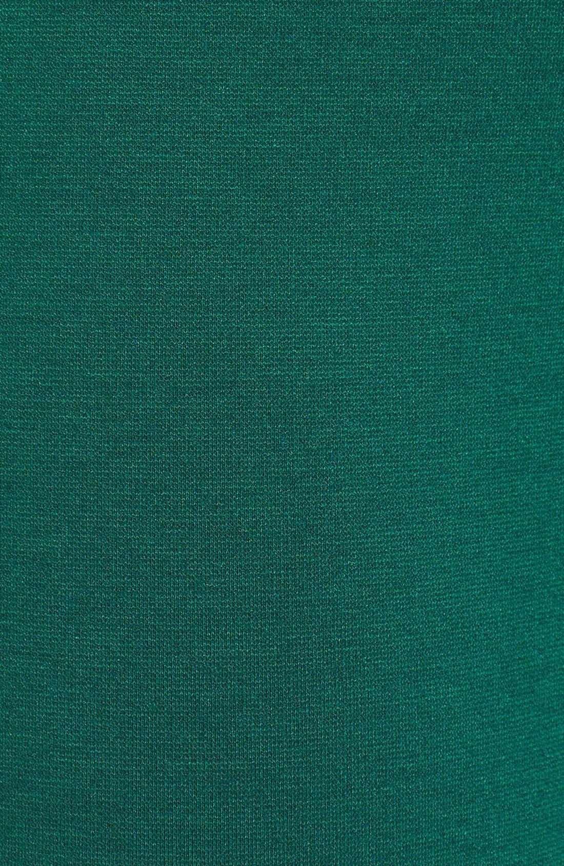 Ponte Knit Leggings,                             Alternate thumbnail 5, color,                             Deep Emerald