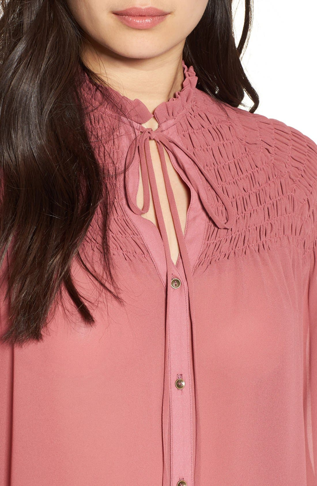 Alternate Image 4  - WAYF 'Russell' Chiffon Blouse